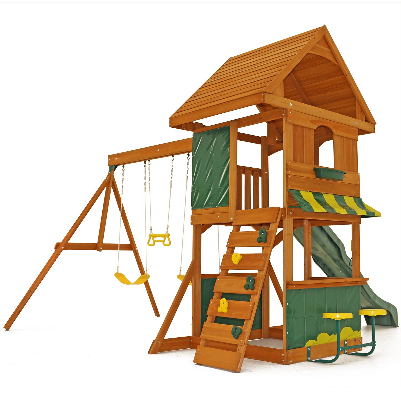 Big Backyard Magnolia Wooden Swing Set & Reviews | Wayfair