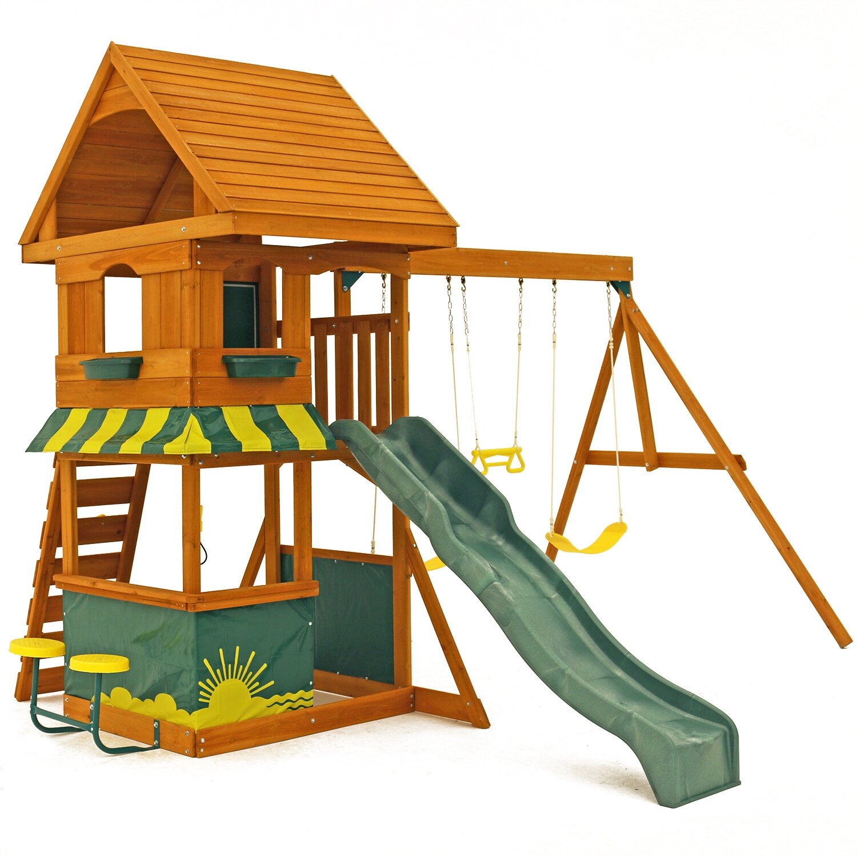 Backyard Gym Sets : Big Backyard Magnolia Wooden Swing Set & Reviews  Wayfair