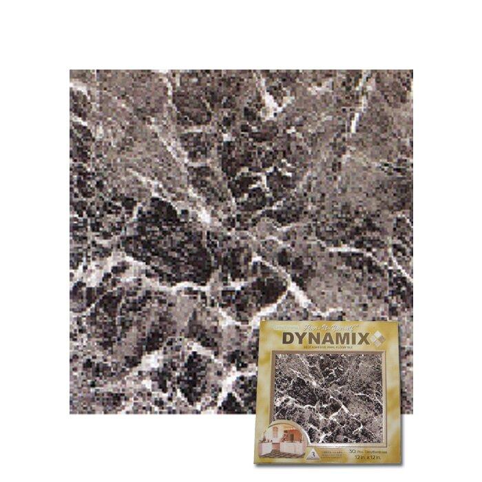 """Dynamix Vinyl Tile 1009: Home Dynamix 12"""" X 12"""" Luxury Vinyl Tile In Grey Marble"""