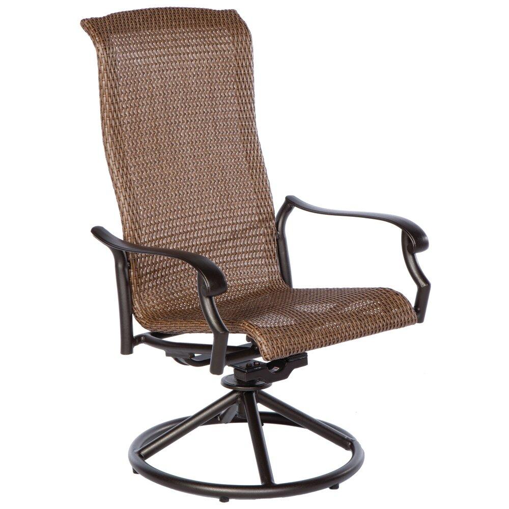 Naples Swivel Dining Arm Chair Wayfair Supply