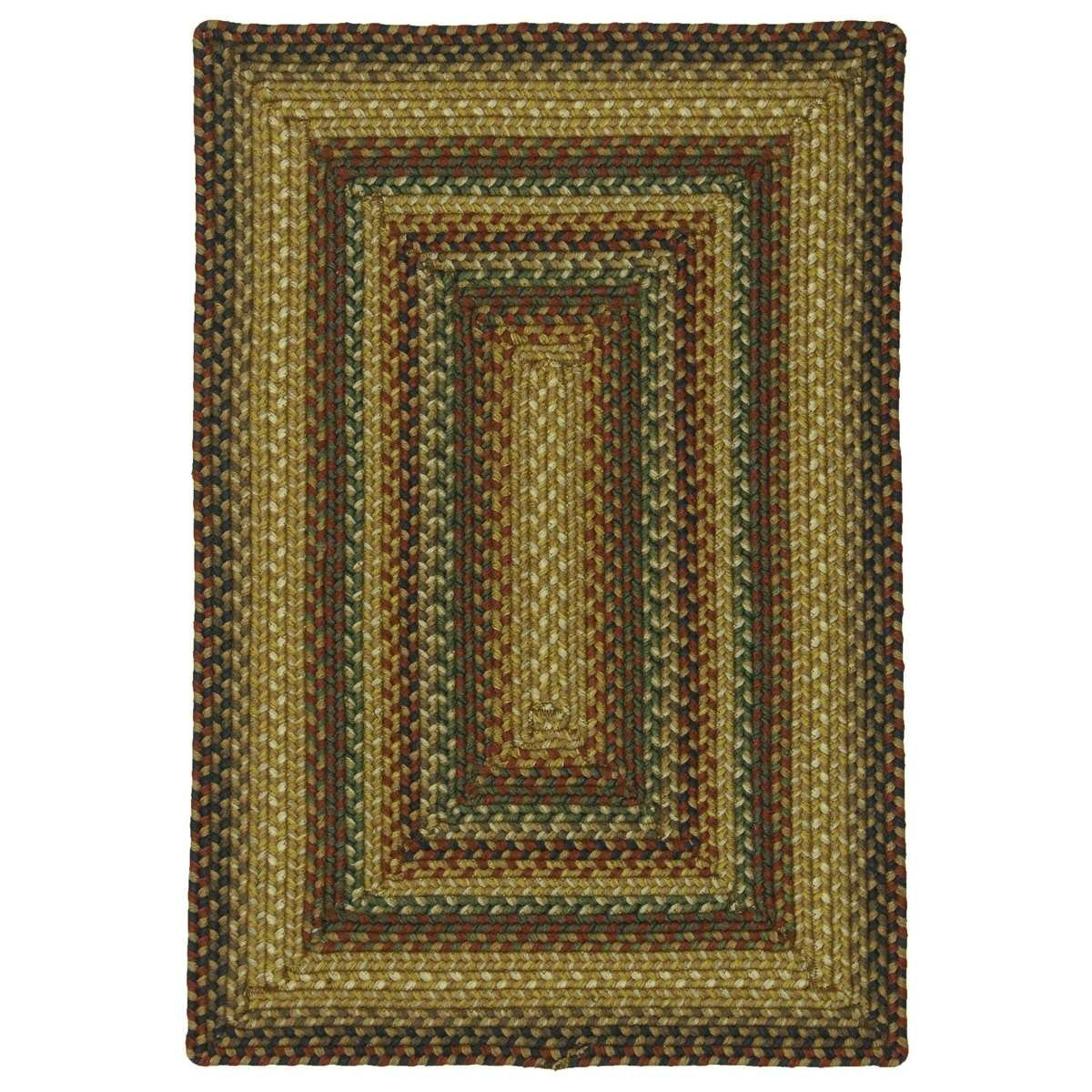 Canterbury gold indoor outdoor area rug wayfair for Indoor out door rugs