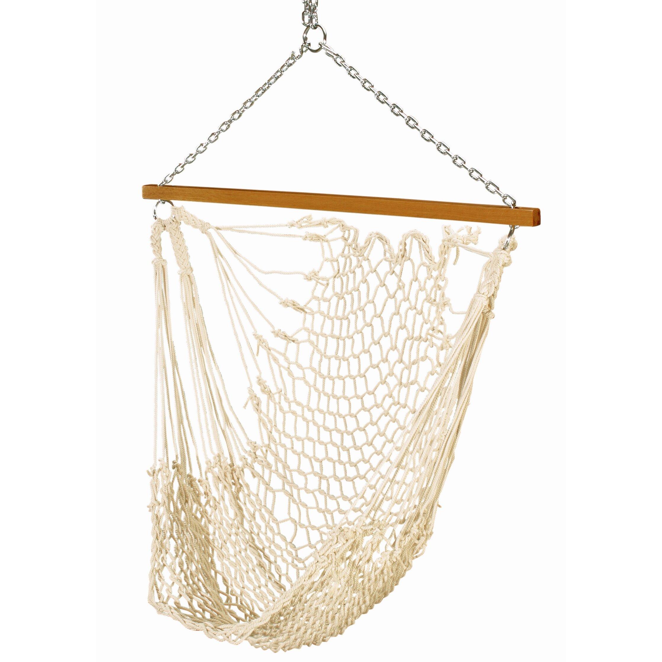 Single rope hammock swing