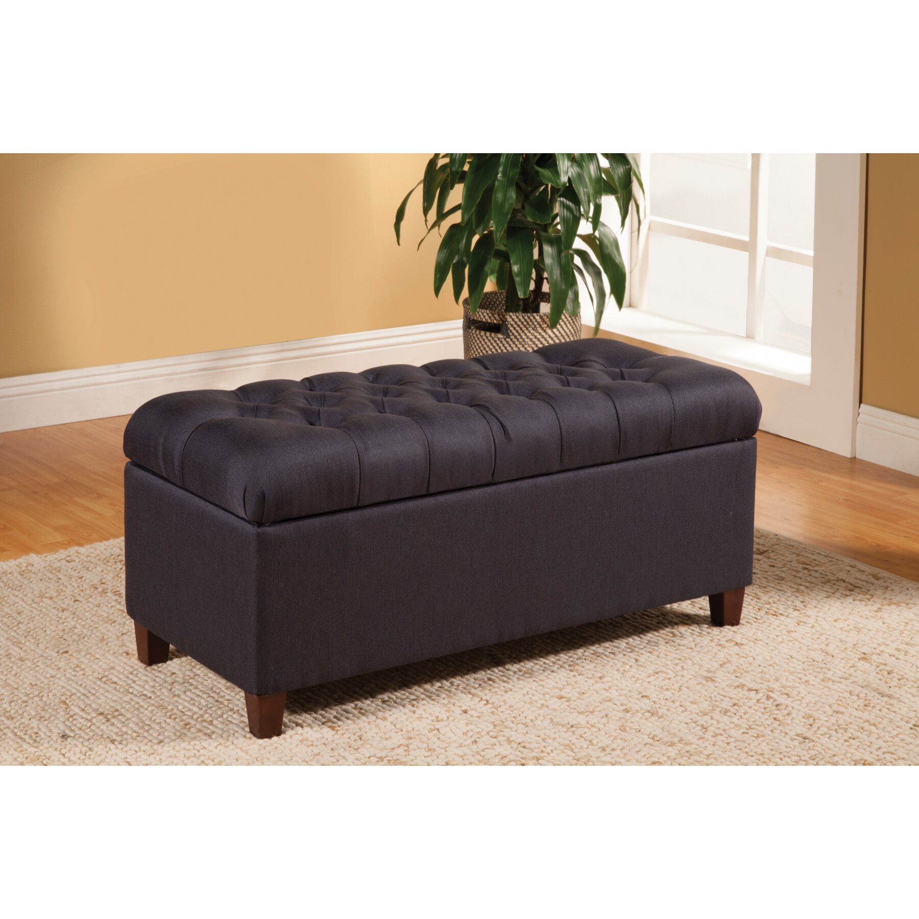 Alcott hill henderson upholstered storage bedroom bench reviews wayfair Bedroom storage bench