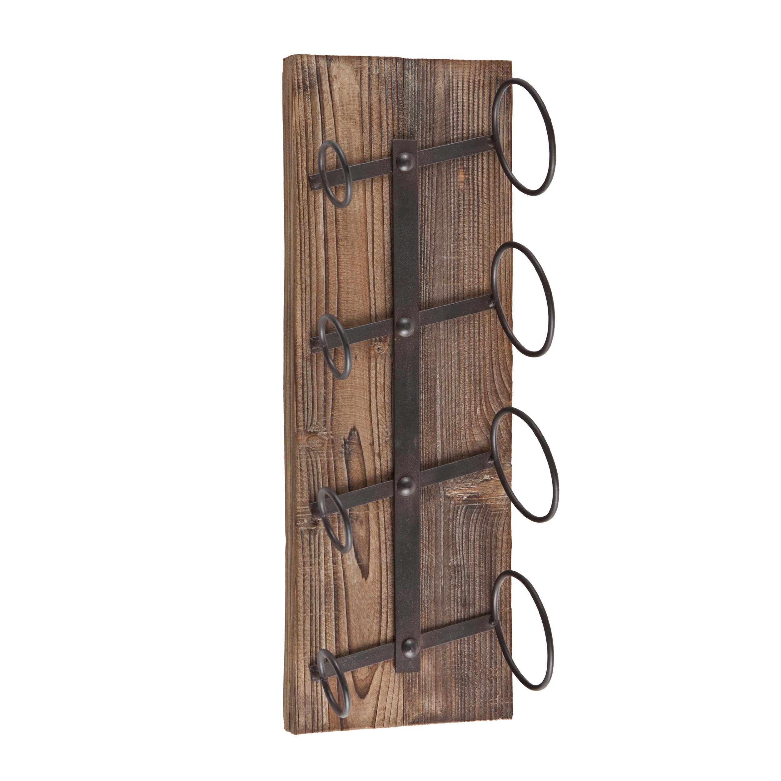 wildon home wicklow 4 bottle wall mounted wine rack reviews wayfair. Black Bedroom Furniture Sets. Home Design Ideas