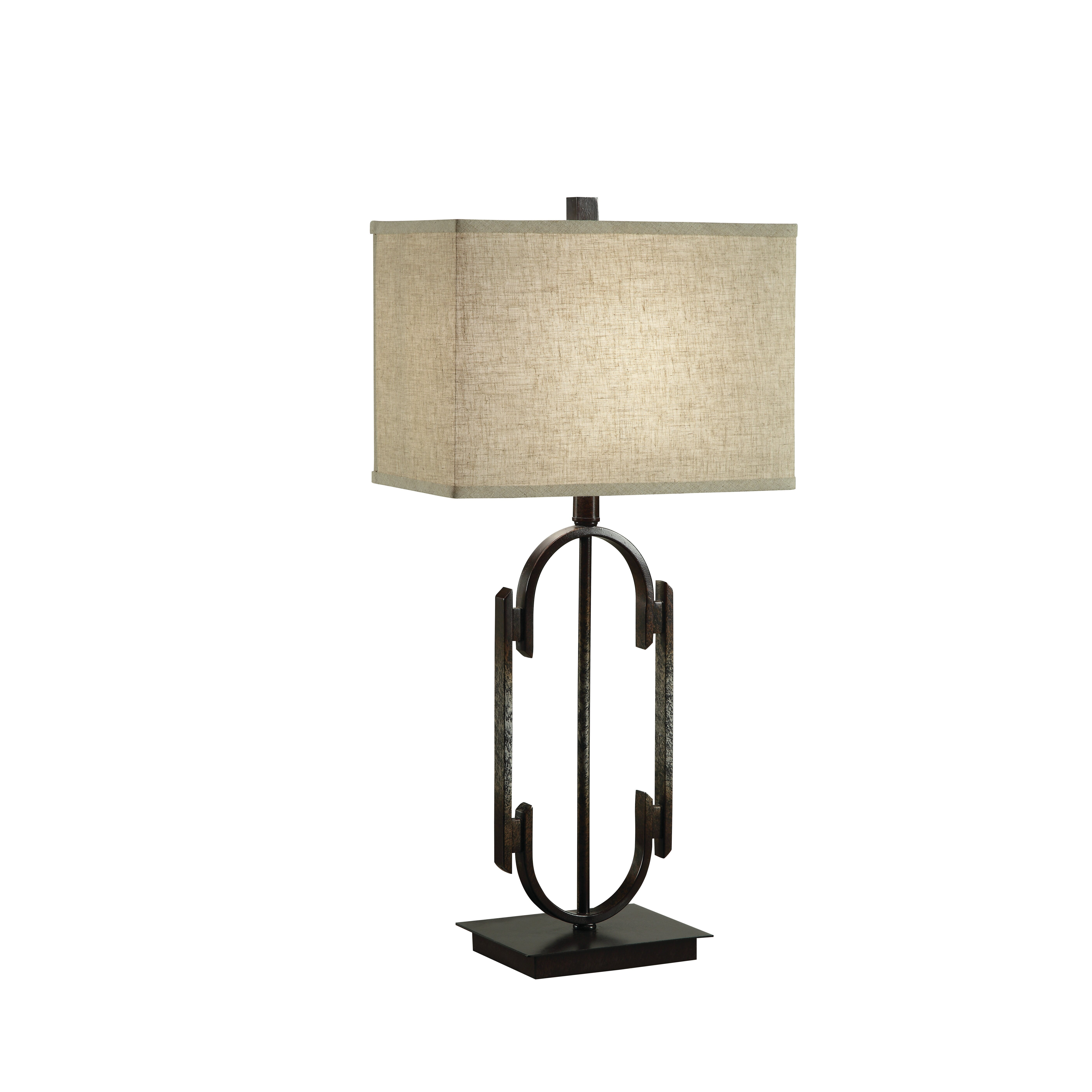 home 29 h table lamp with rectangular shade reviews wayfair. Black Bedroom Furniture Sets. Home Design Ideas