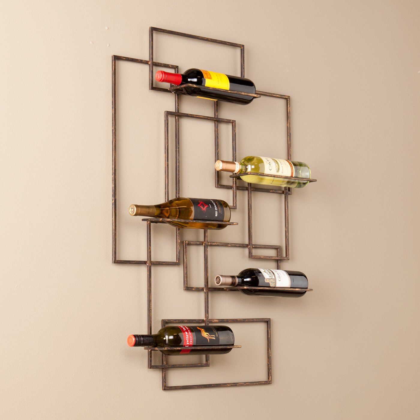 Wildon Home ® Declan 5 Bottle Wall Mount Wine Rack & Reviews | Wayfair
