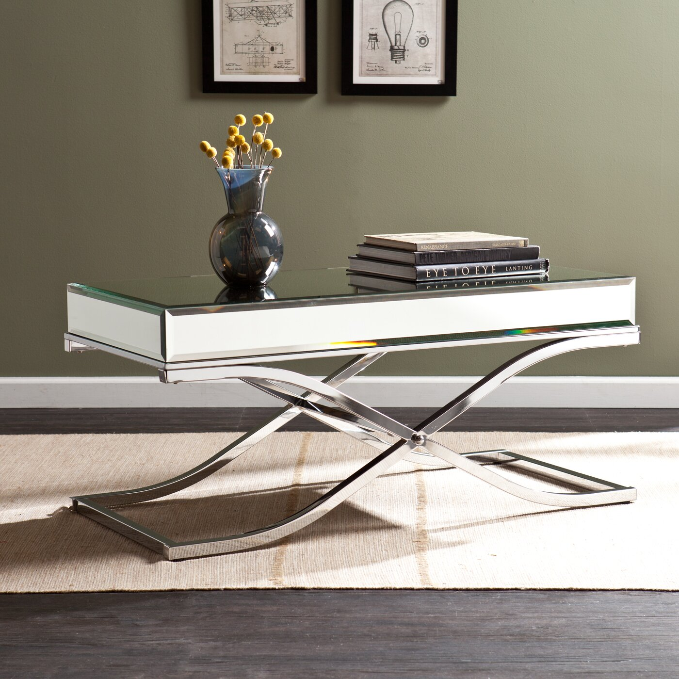 Wayfair Mirrored Coffee Table Wildon Home R Caraman Mirrored Coffee Table Reviews