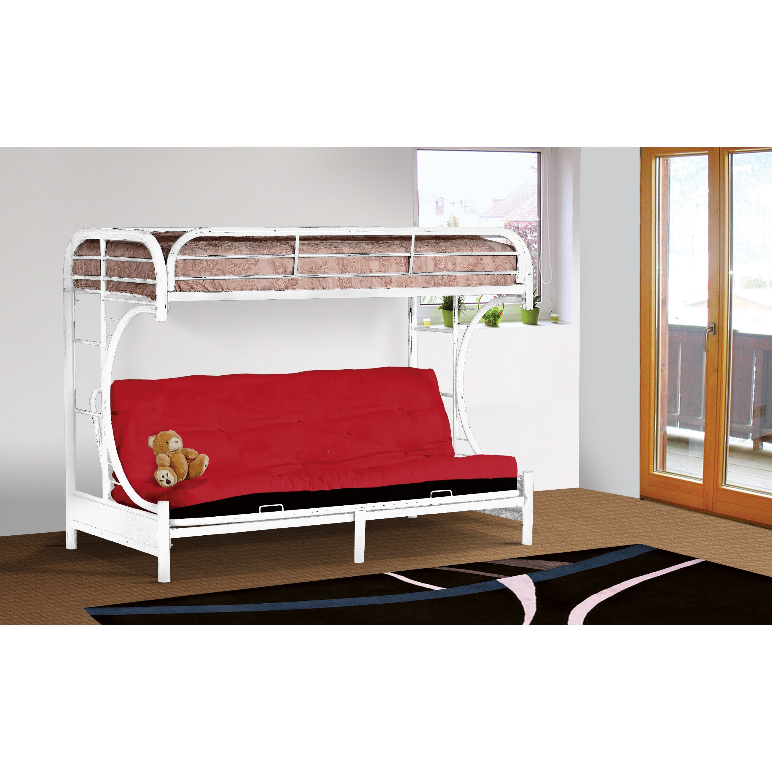 Wildon Home Twin Over Full Futon Bunk Bed Reviews