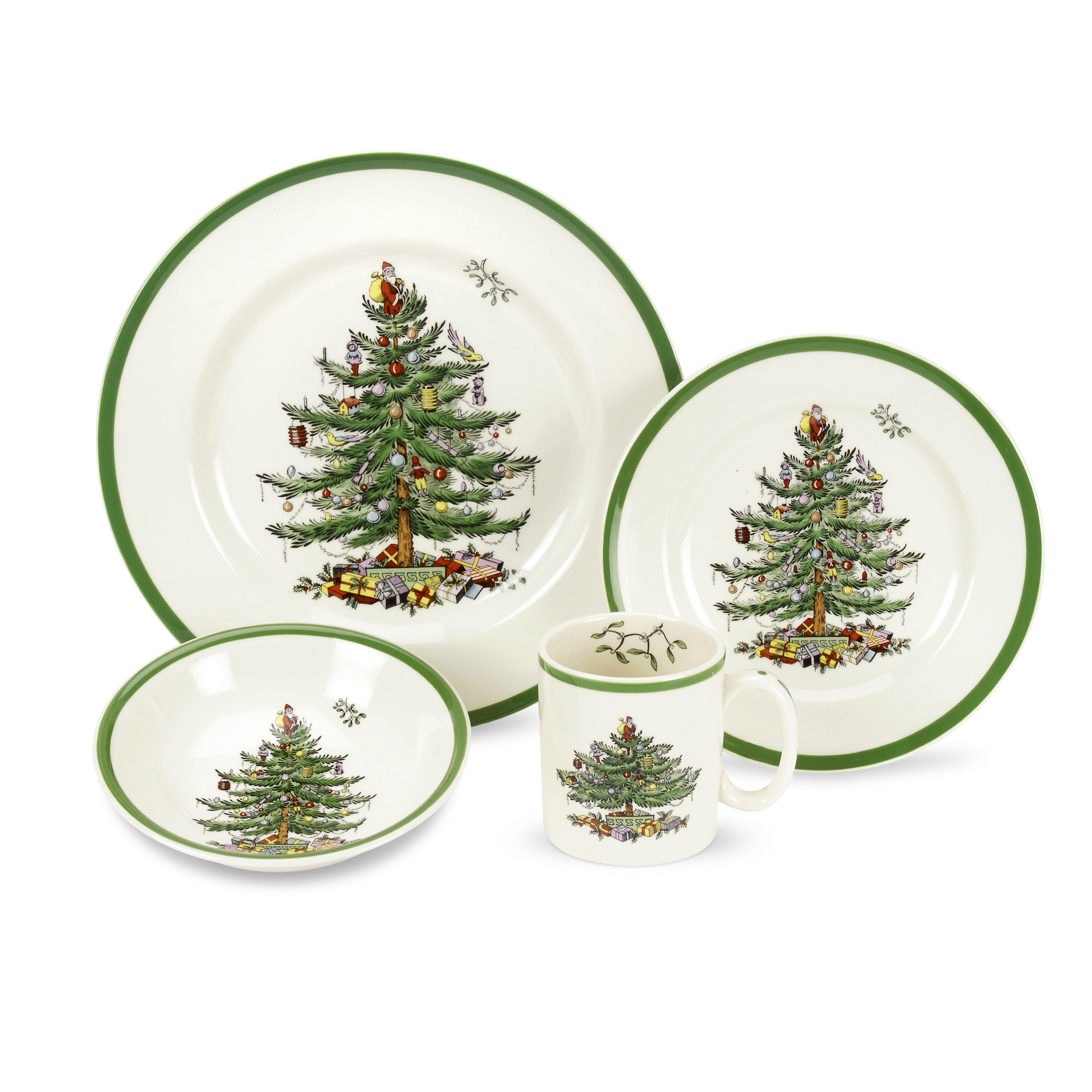 Spode Christmas Tree Sale: Spode Christmas Tree 4 Piece Place Setting & Reviews