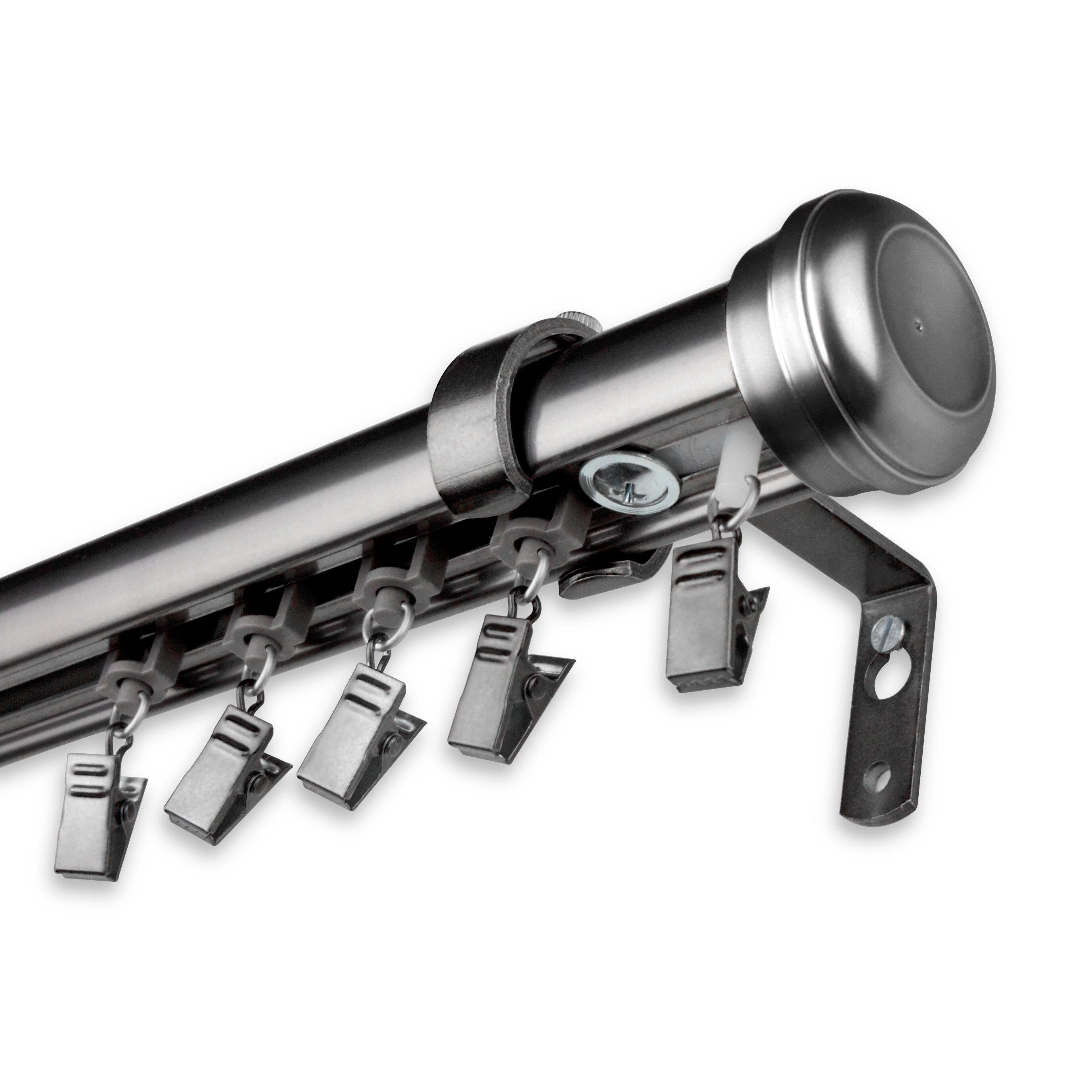 rod desyne rosen traverse single curtain rod and hardware set