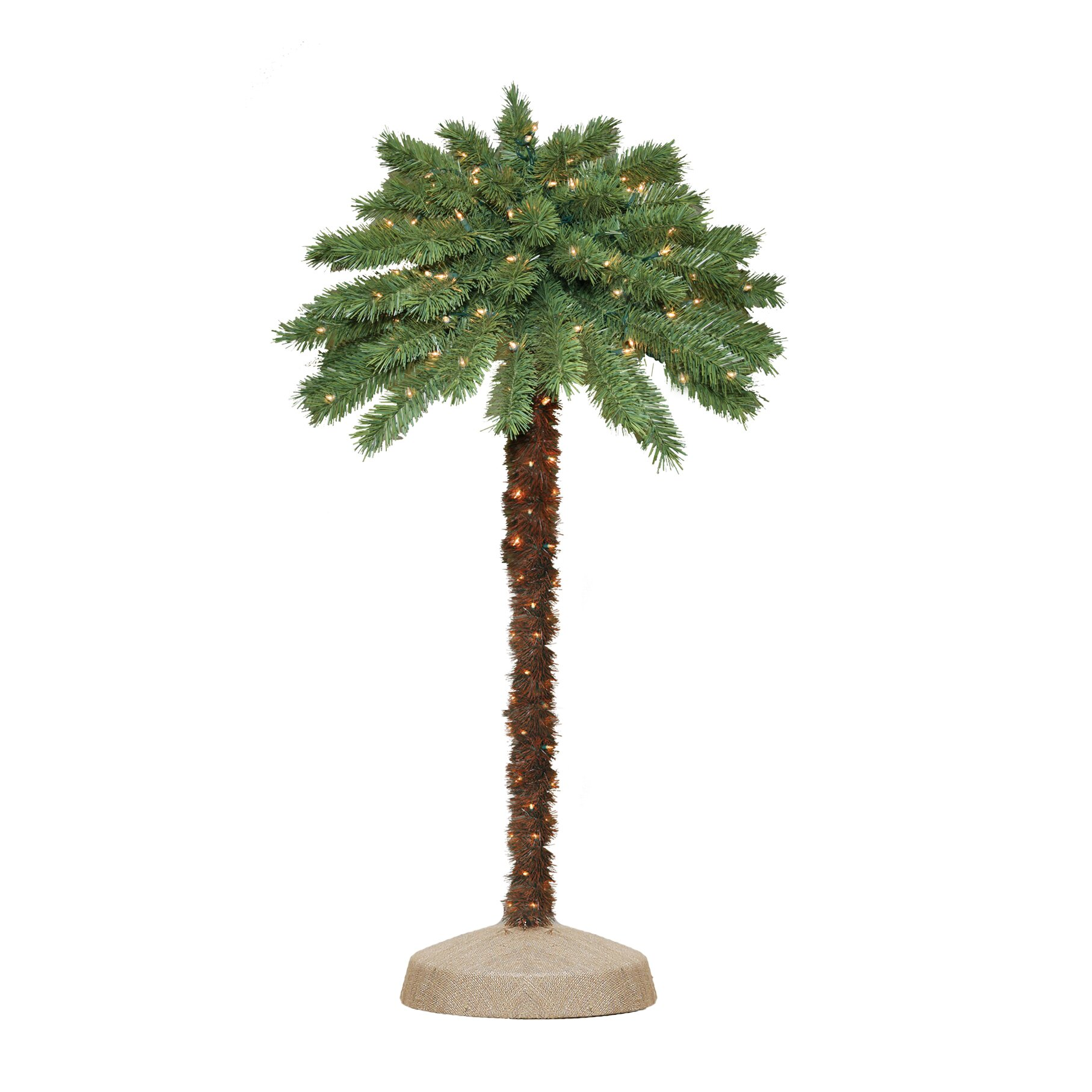 Christmas Lights Palm Trees: General Foam Plastics 4' Green Tropical Artificial