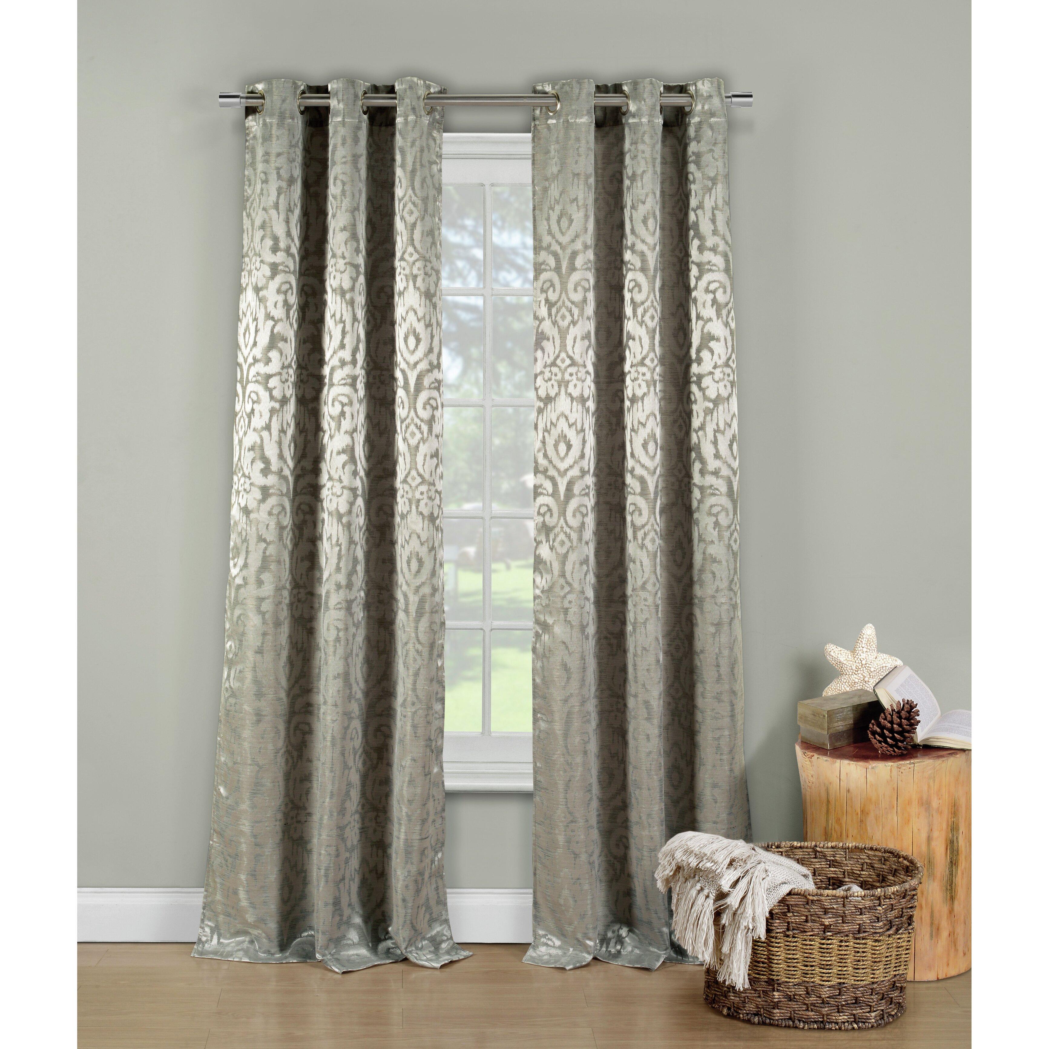 Lia curtain panel wayfair for International decor window treatments