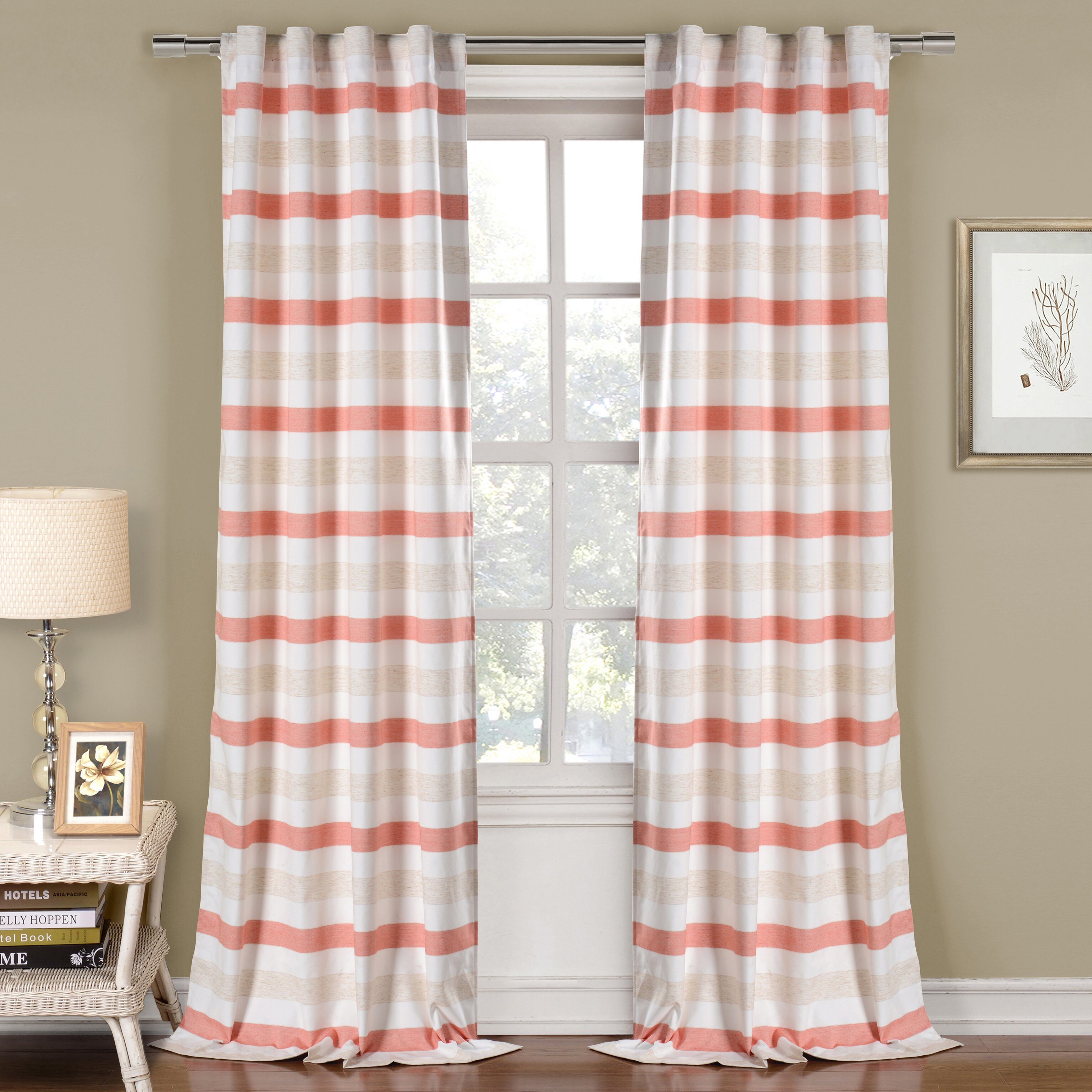 Linen Blend Sheers Dr International Laysan Wide Stripe Faux Linen With