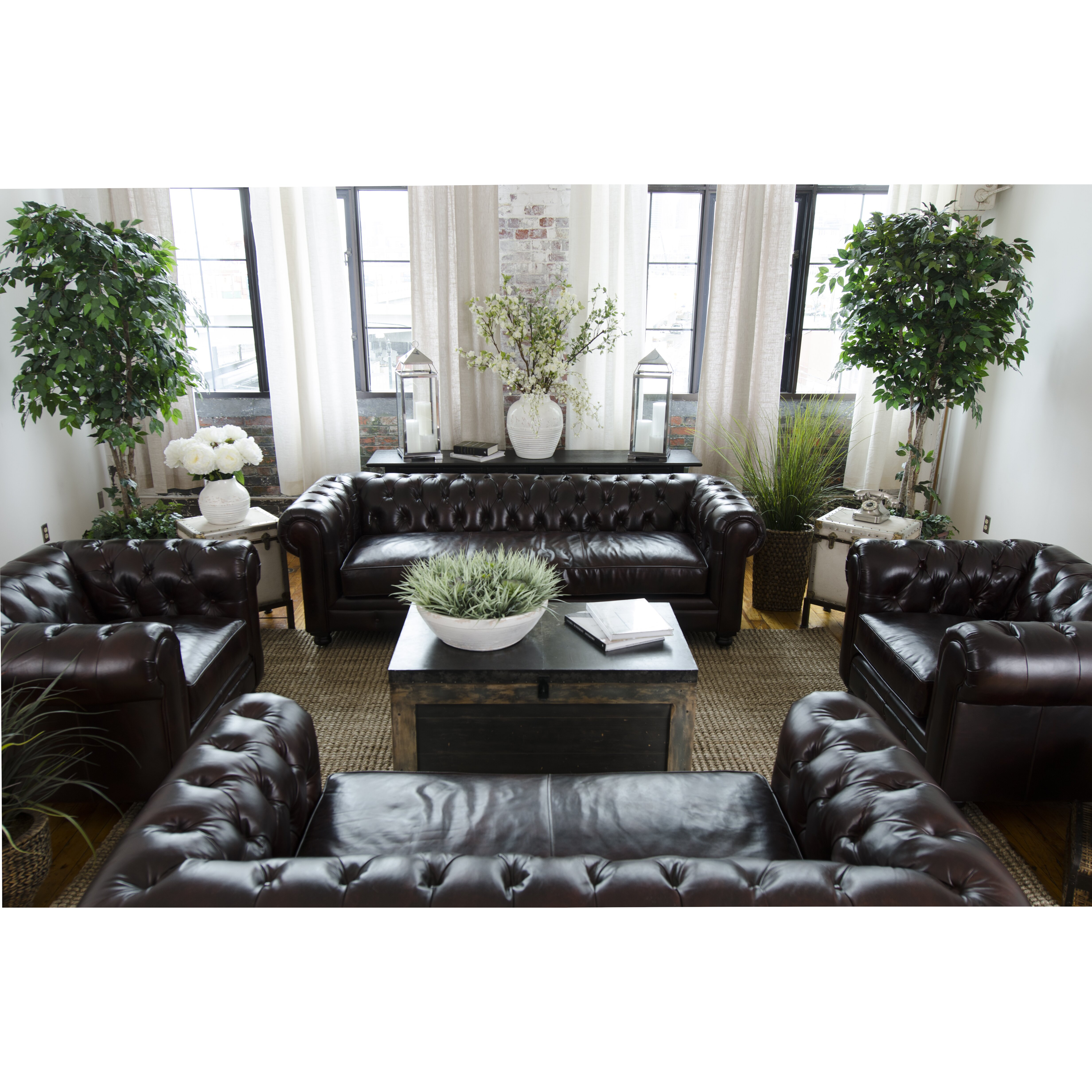 Elements Fine Home Furnishings Estate Top Grain Leather Sofa Reviews Wayfair