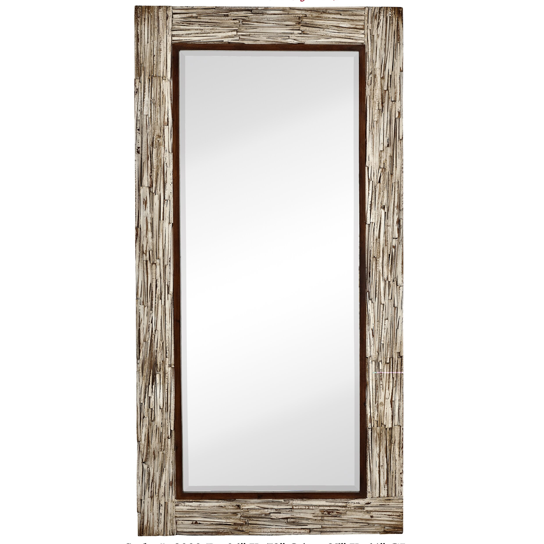 Large rectangular white washed wood framed beveled glass for Large rectangular bathroom mirrors