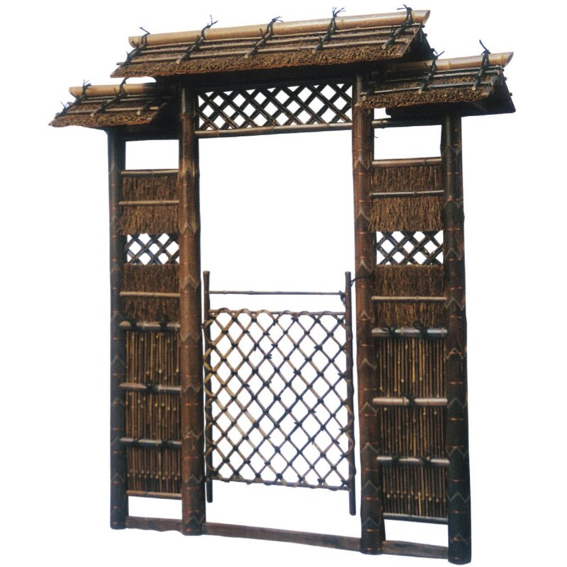 japanese style zen garden gate by oriental furniture