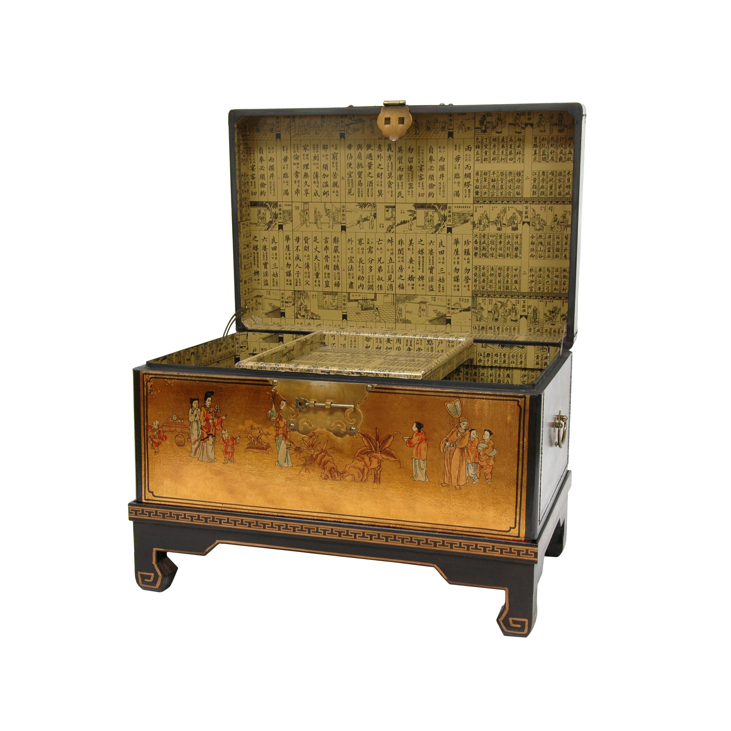 Lacquer Small Keepsake Trunk by Oriental Furniture
