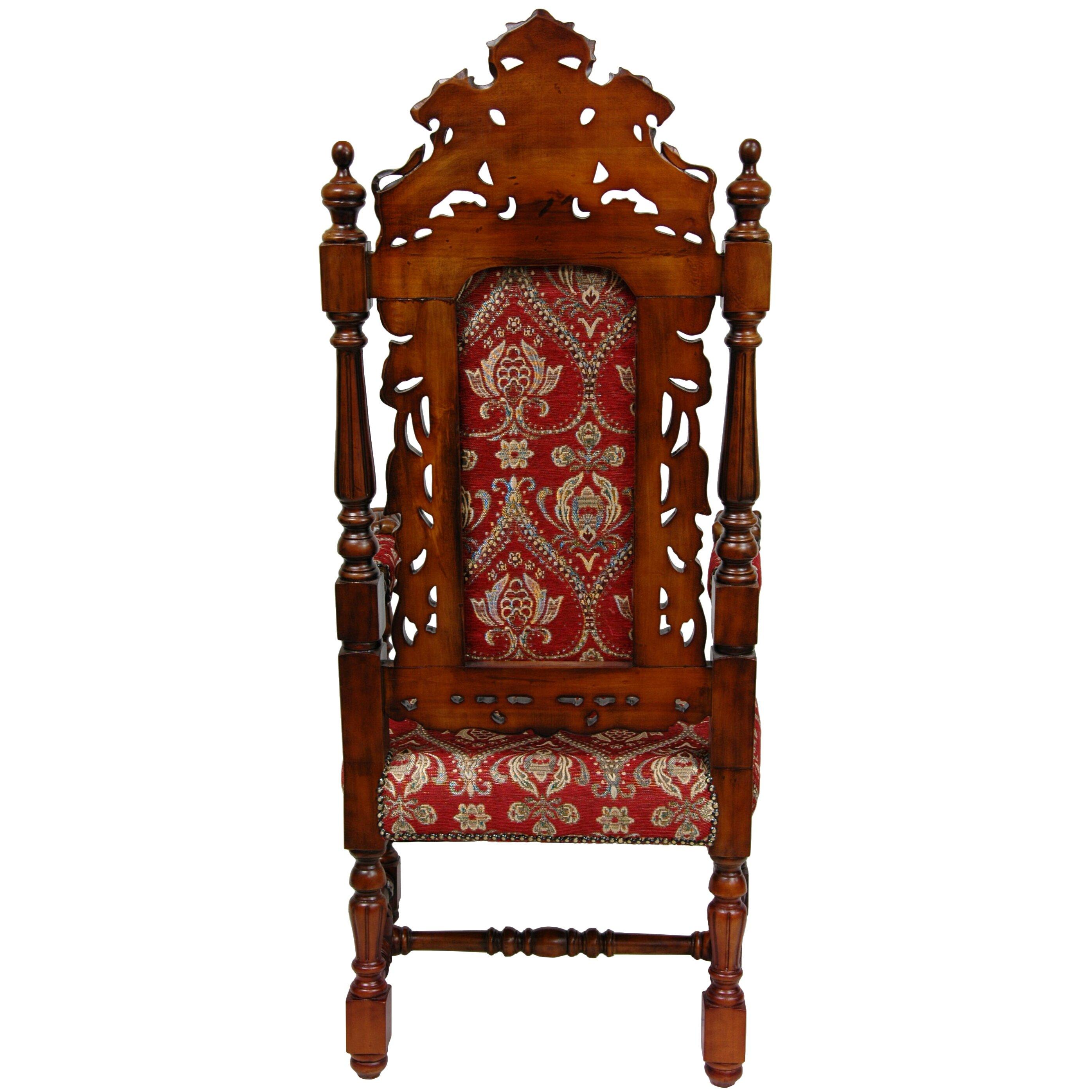 Queen Anne Parlor Fabric Arm Chair