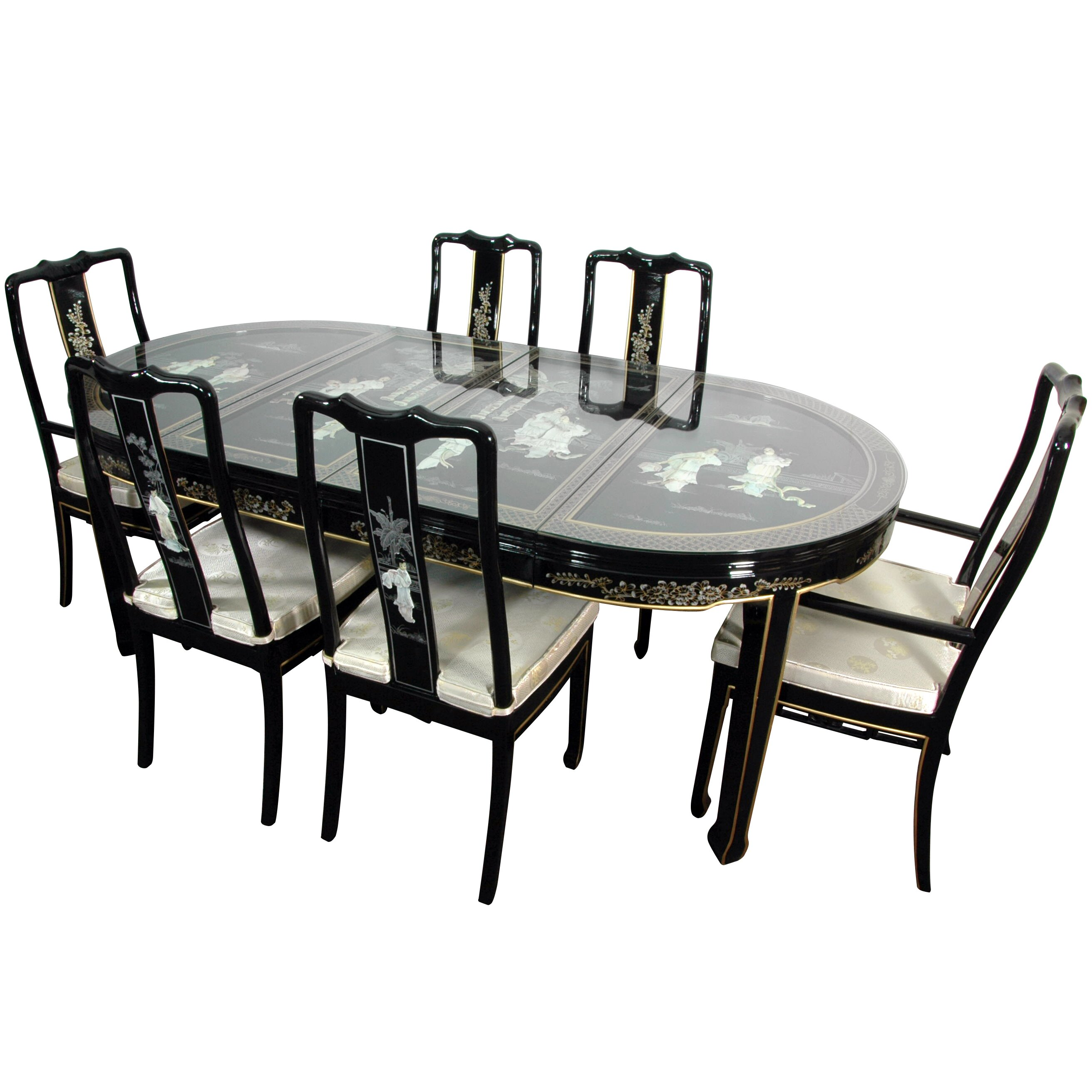 Lacquer 7 piece dining set wayfair for 7 piece dining set
