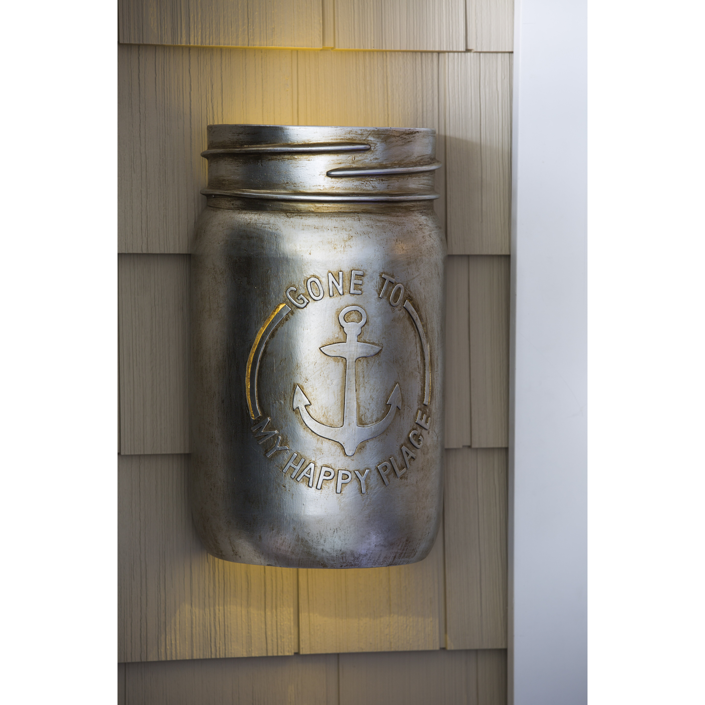 Metal Mason Jar Illumiated Wall Décor | Wayfair