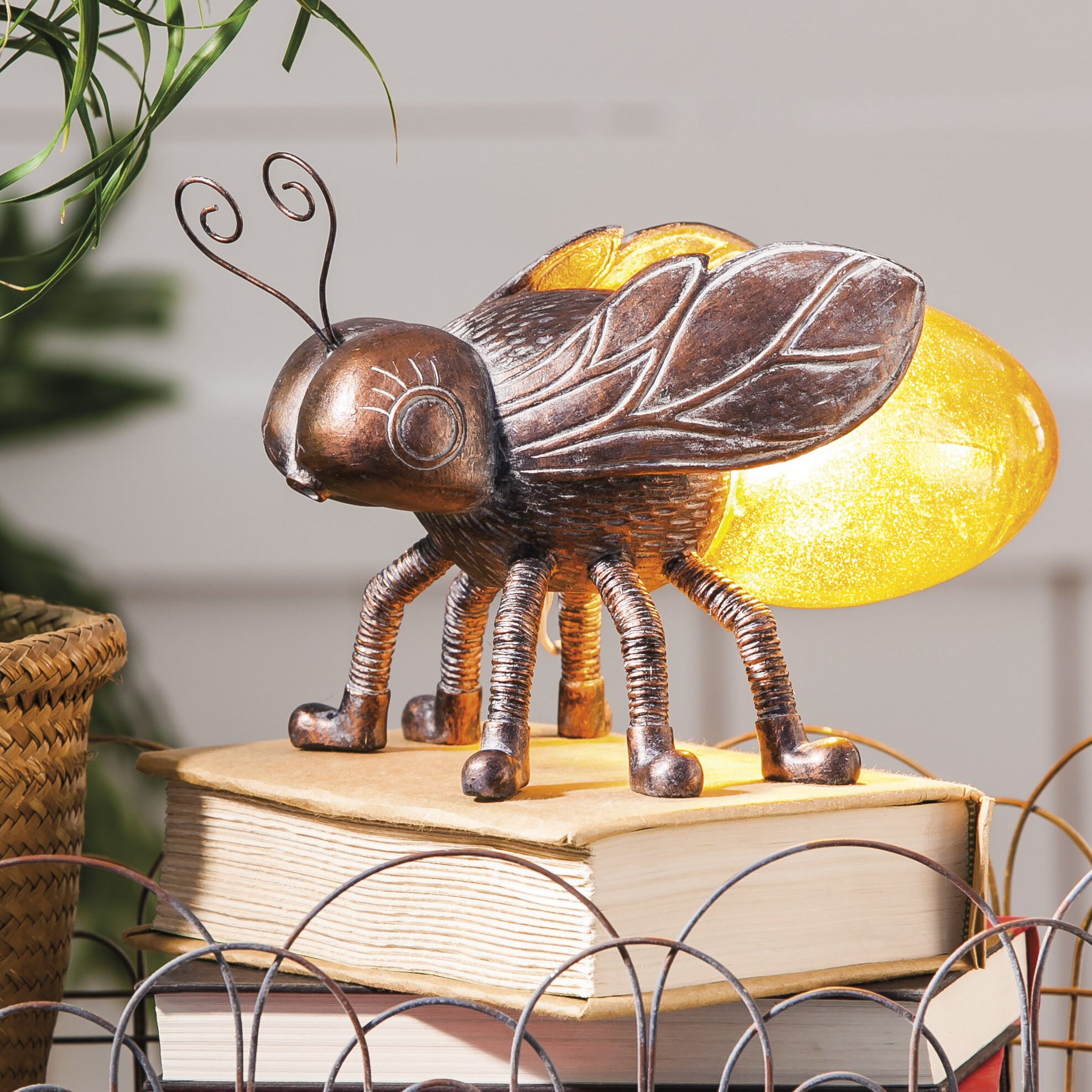 Busy Bees High Lane Busy Bee Table Lamp With Novelty Shade L