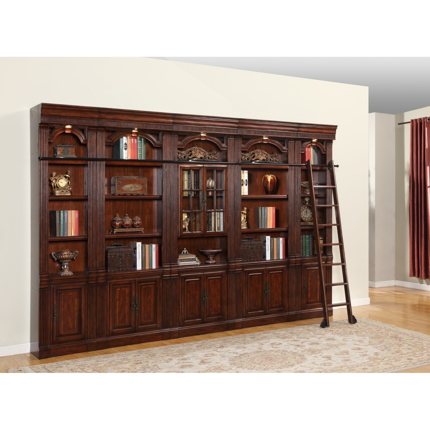 Parker House Wellington Bookcase Wall With Ladder Reviews Wayfair