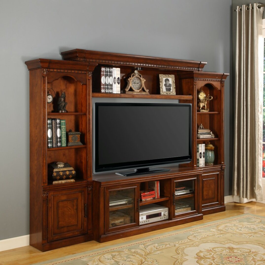 parker house premier athens 4 piece entertainment center reviews wayfair. Black Bedroom Furniture Sets. Home Design Ideas