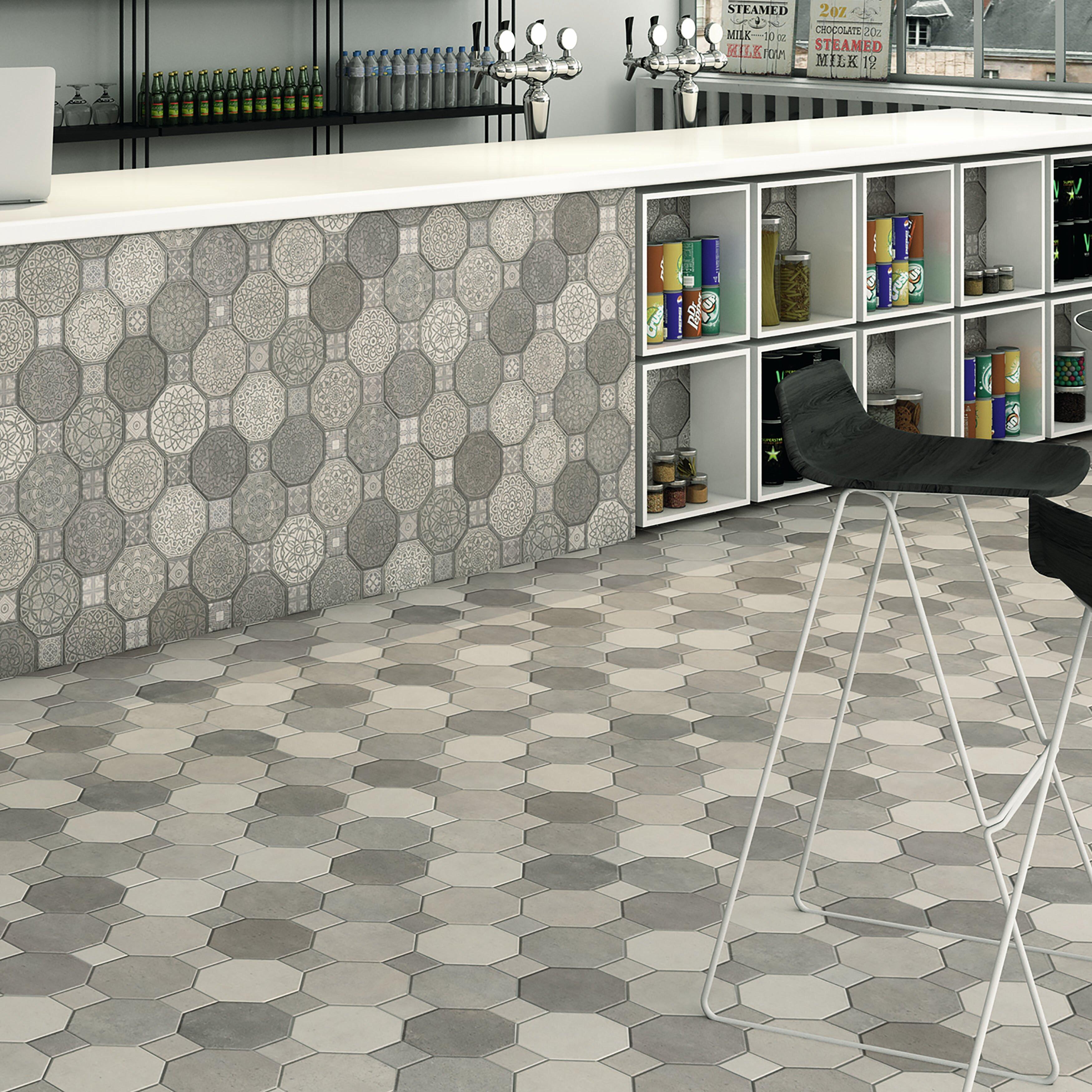 """EliteTile Imagino 17.75"""" X 17.75"""" Ceramic Field Tile In"""