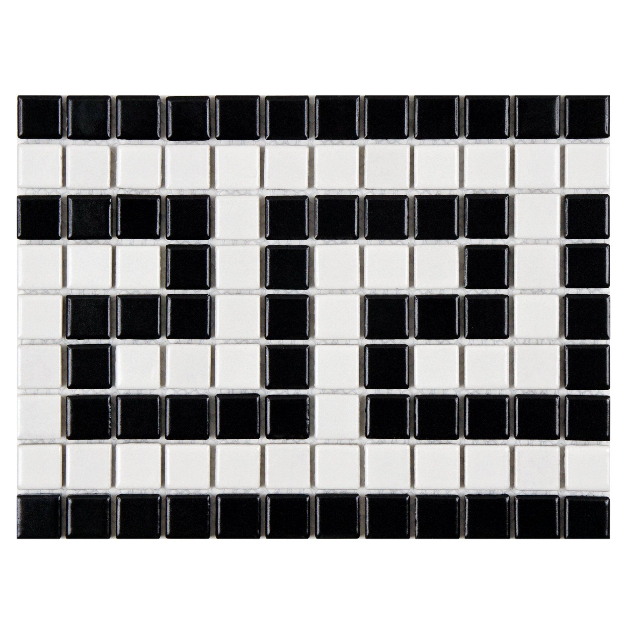 Versace Chair Retro Greek Key 0 81 Quot X 81 Quot Porcelain Mosaic Floor And