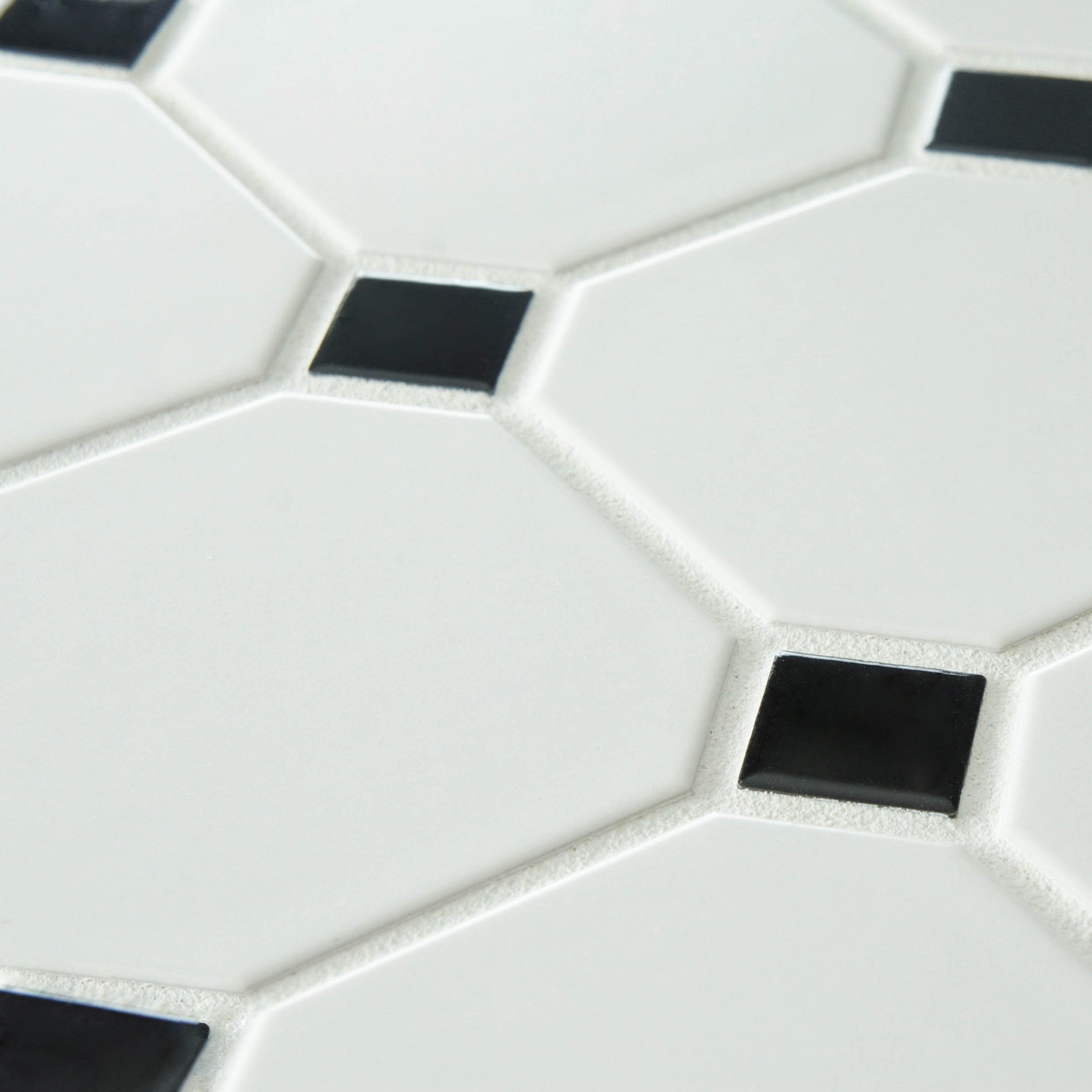 EliteTile Retro Super Octagon X Porcelain Mosaic Ti