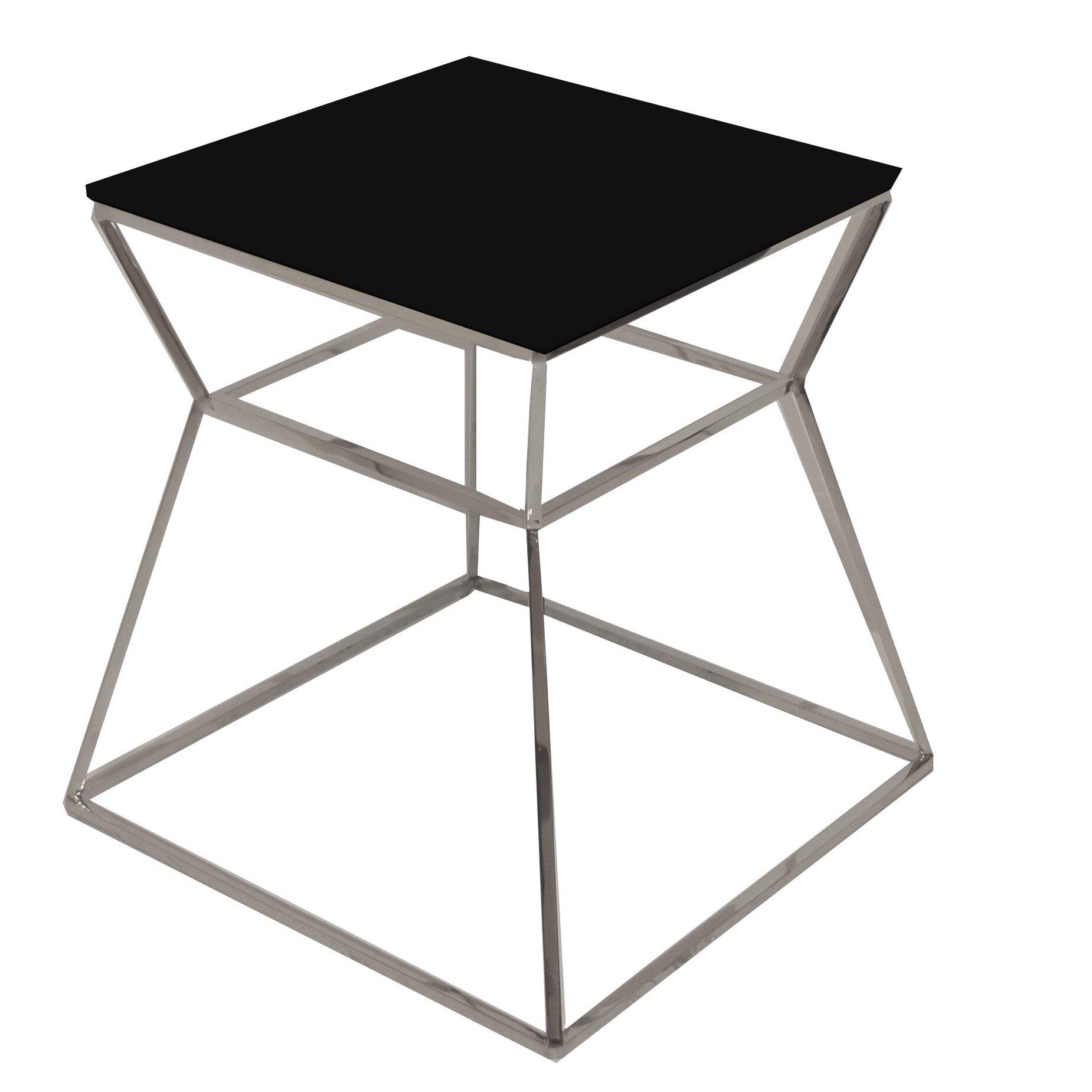 pangea home prism end table amp reviews wayfair prism mirror table glas italia milia shop
