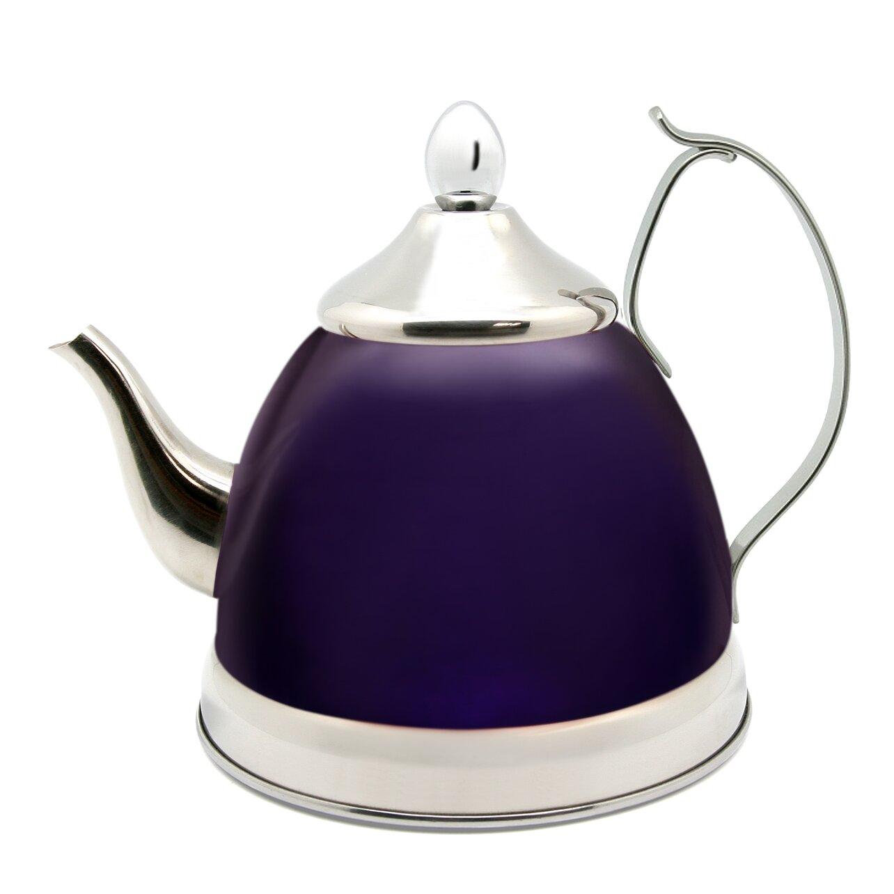 creative home nobili 1 qt infuser and tea kettle reviews wayfair. Black Bedroom Furniture Sets. Home Design Ideas