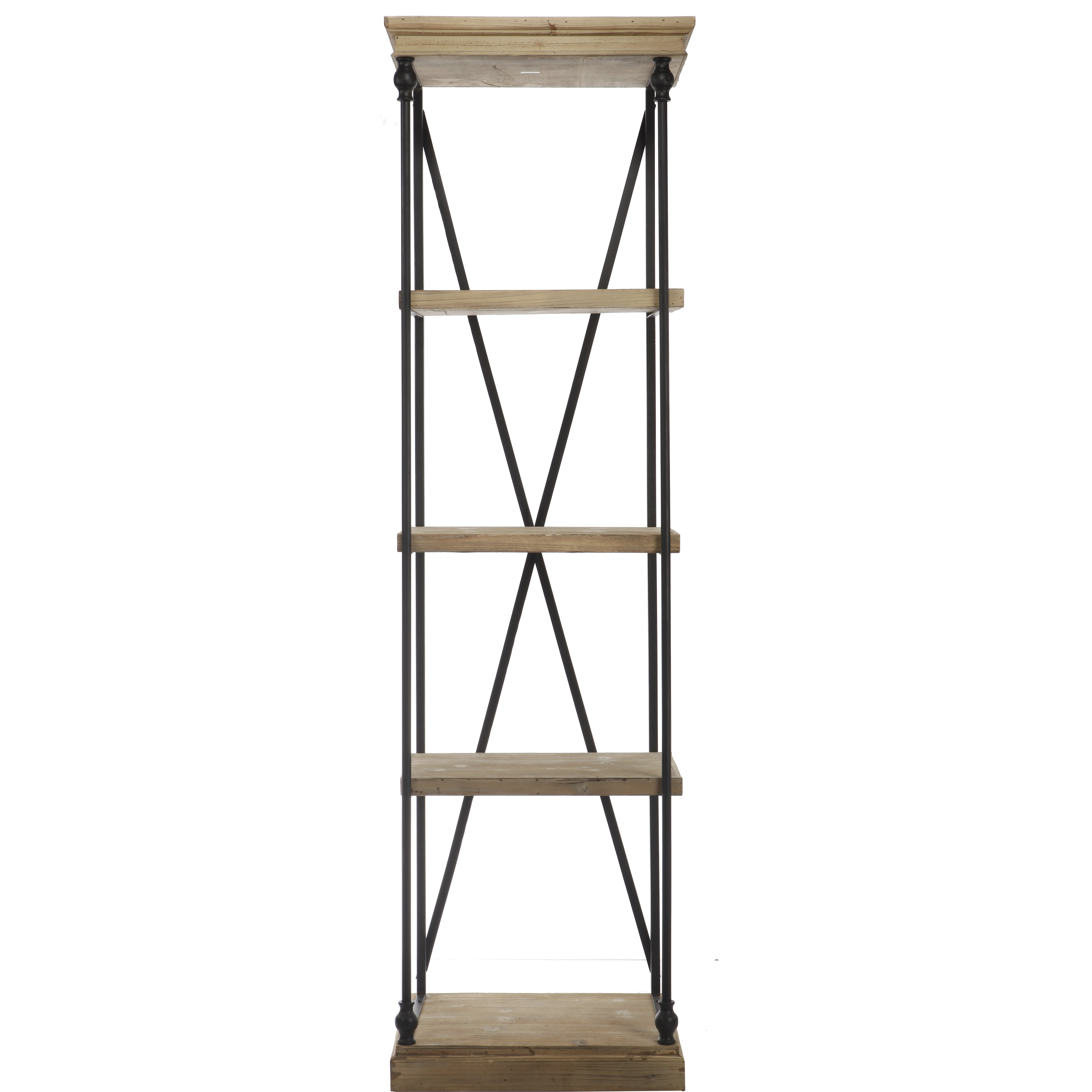 a b home group inc wood and metal etagere reviews wayfair. Black Bedroom Furniture Sets. Home Design Ideas