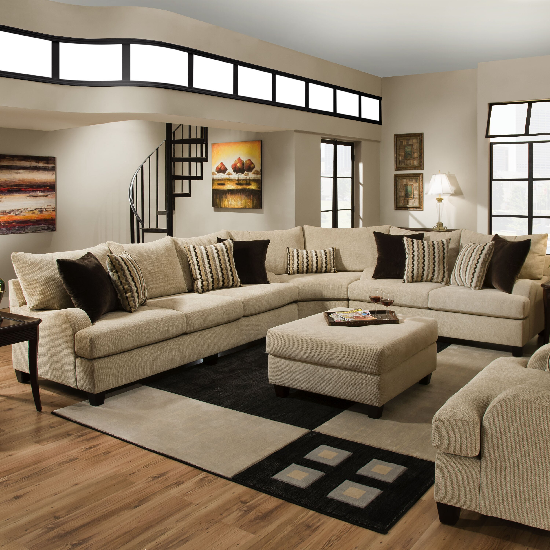 Simmons Upholstery Trinidad Sectional u0026 Reviews : Wayfair