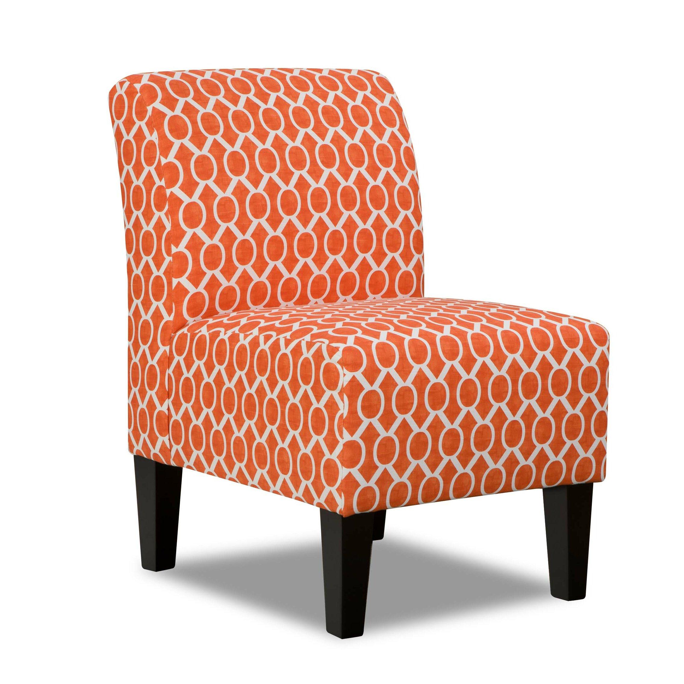 Simmons Upholstery Side Chair In Orange Amp Reviews Wayfair