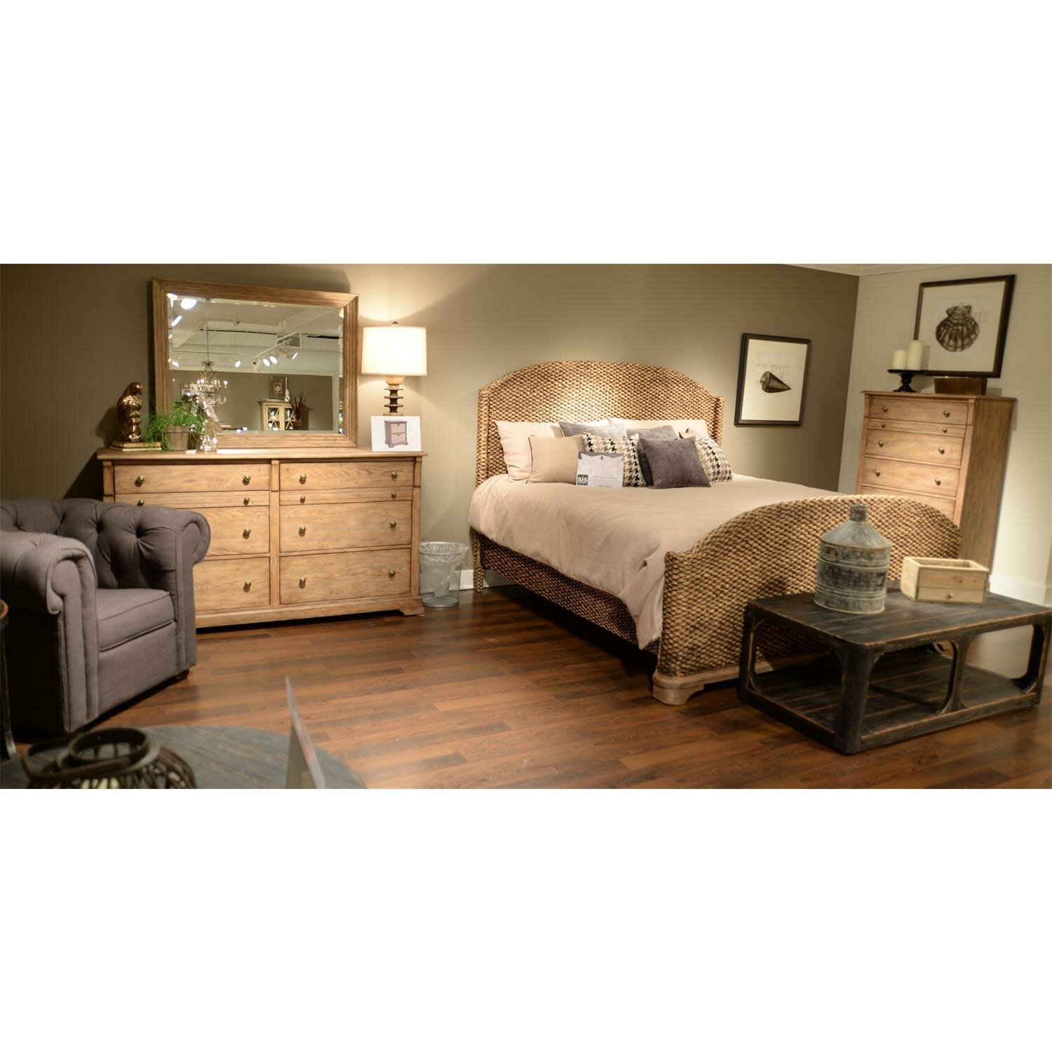 riverside furniture sherborne panel customizable bedroom