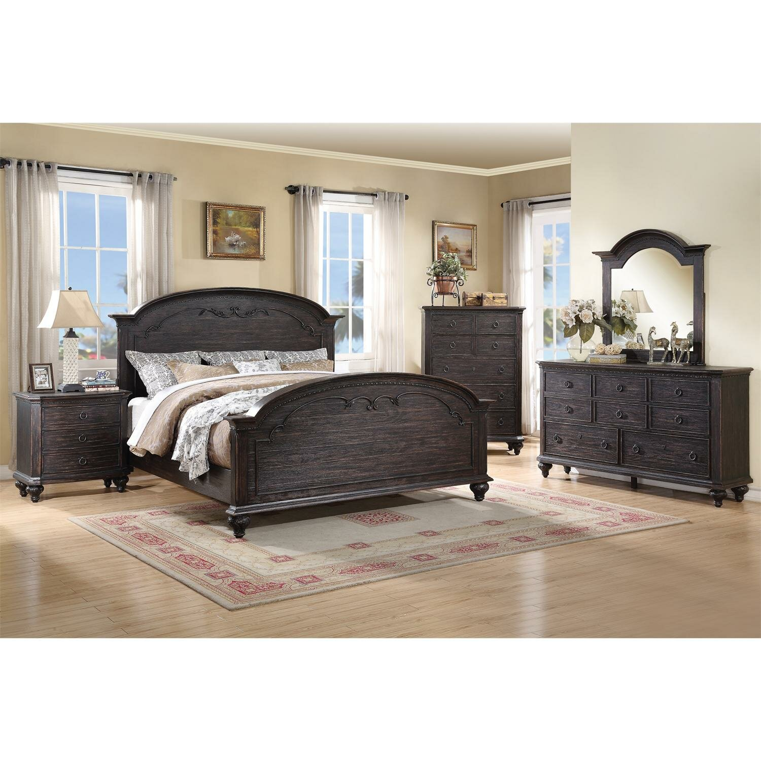 riverside furniture bellagio panel customizable bedroom