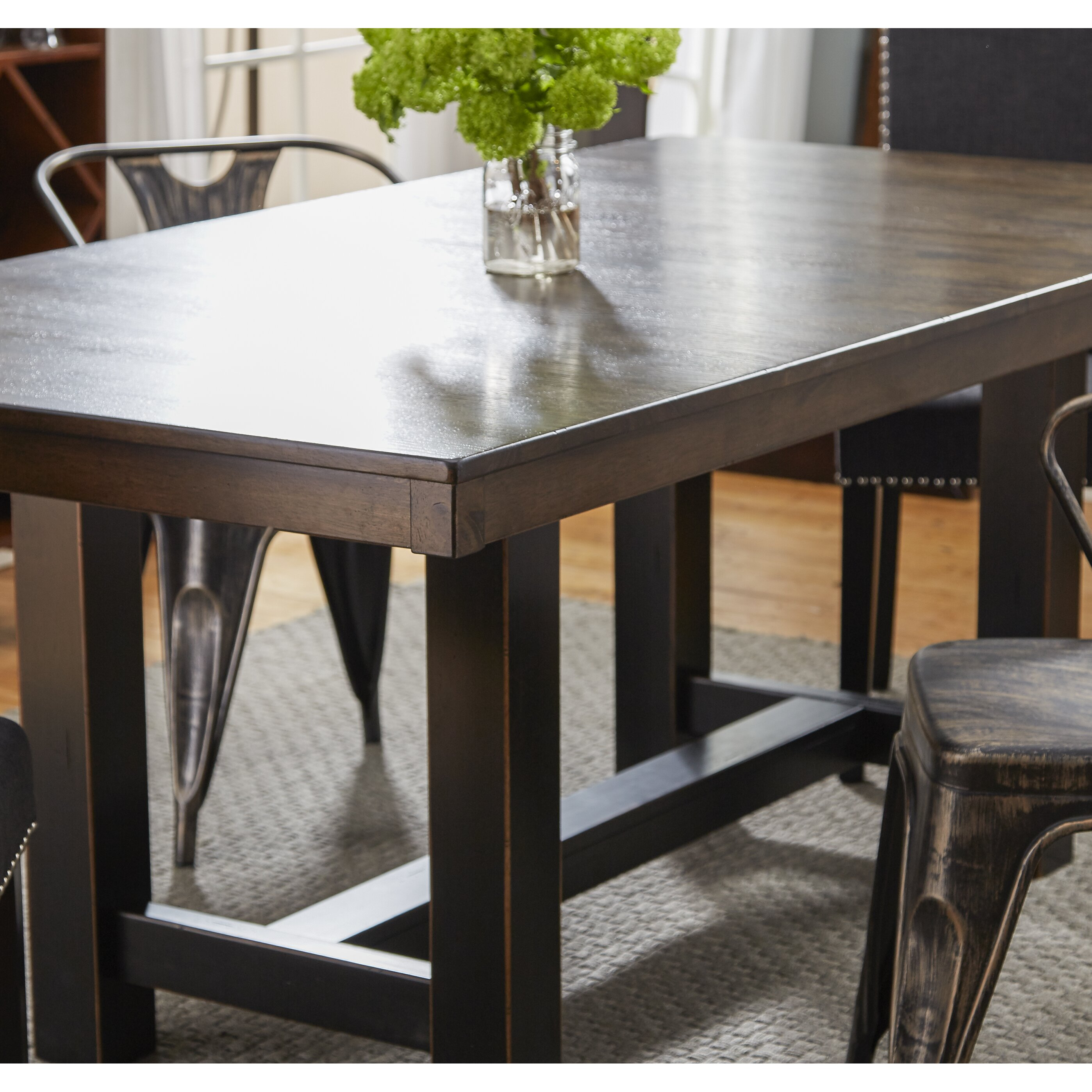 dwellstudio austin extendable dining table amp reviews wayfair dining room tables austin turquoise dining chairs teal