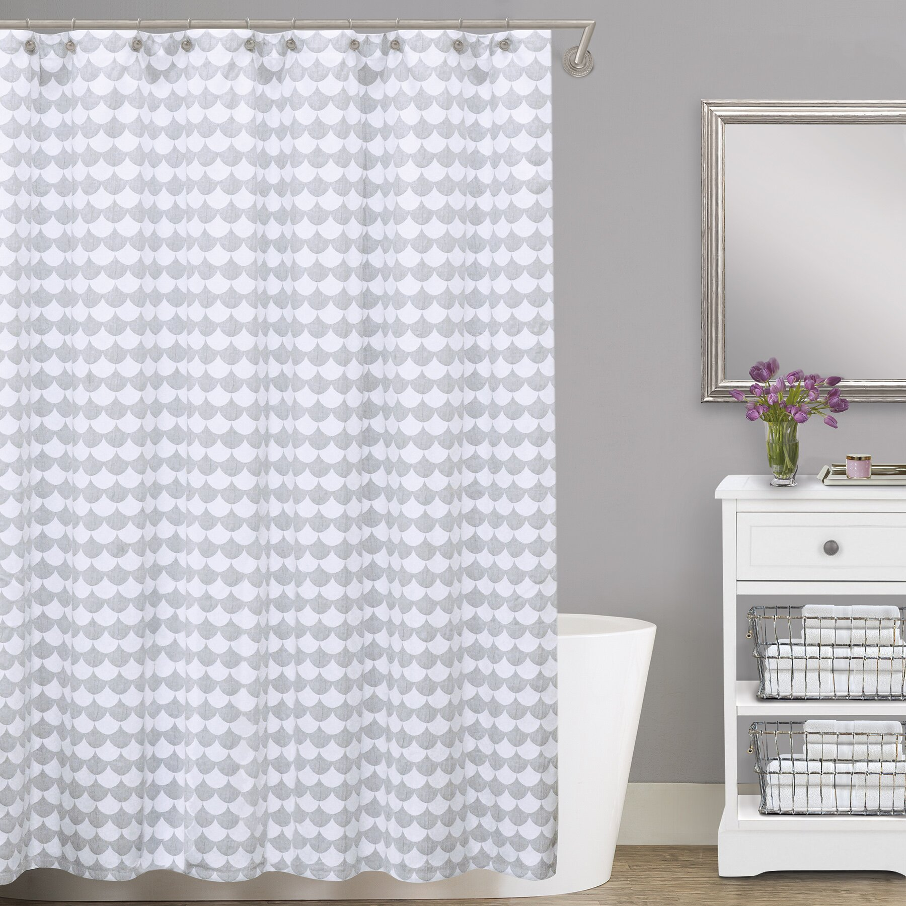 LaMont Finley Cotton Shower Curtain Reviews Wayfair