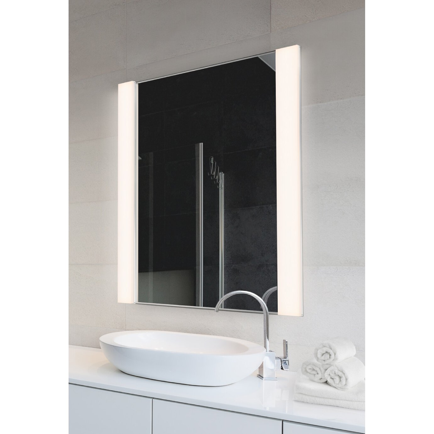 Vanity Lighting Vertical : LED Vertical 2 Light Vanity Light with Mirror Wayfair