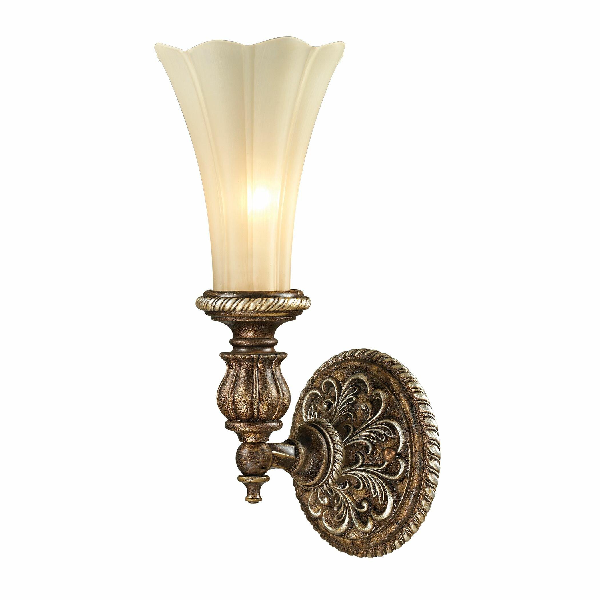 Elk Lighting Sconce: Elk Lighting Allesandria 1 Light Wall Sconce & Reviews