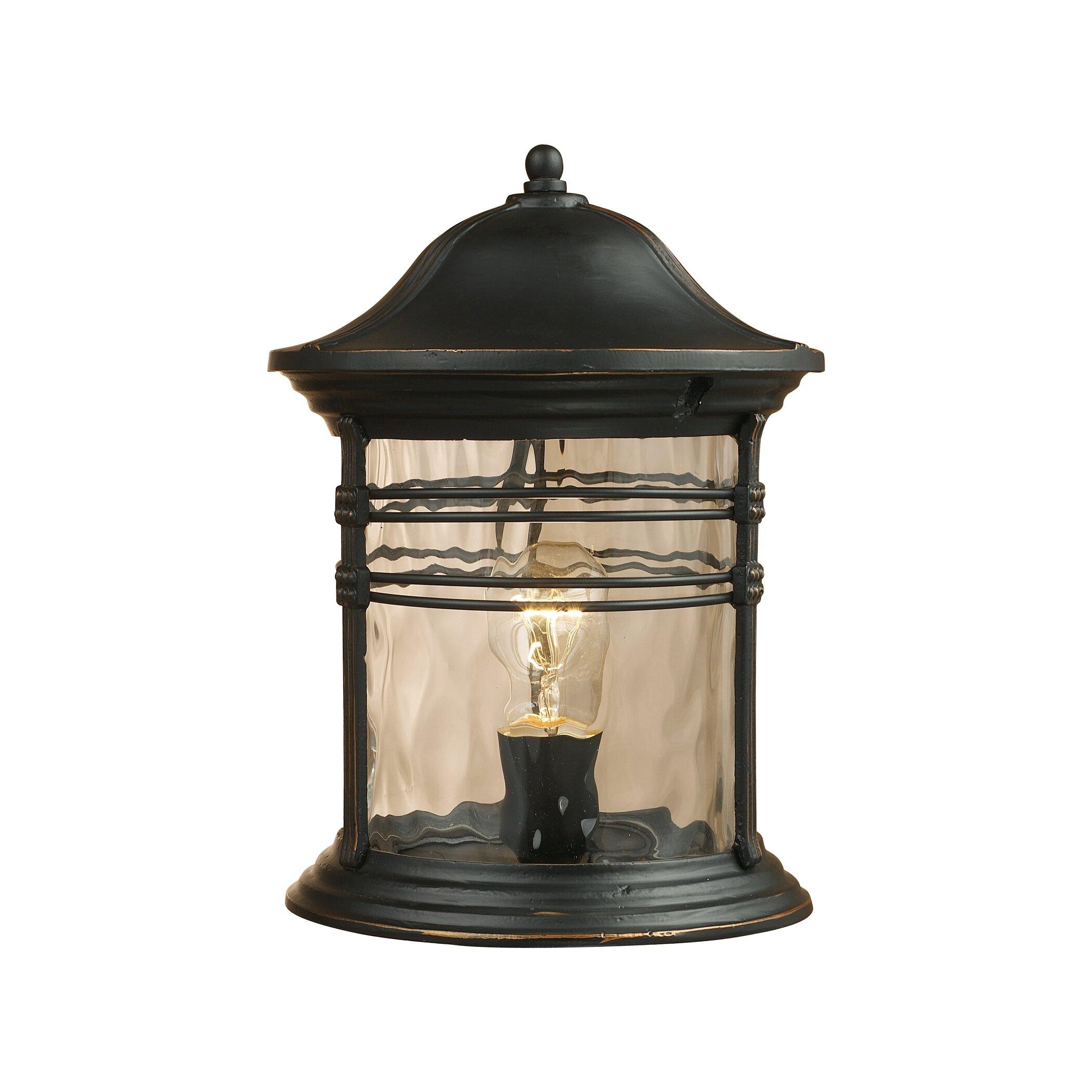 outdoor 1 light pier mount light wayfair. Black Bedroom Furniture Sets. Home Design Ideas