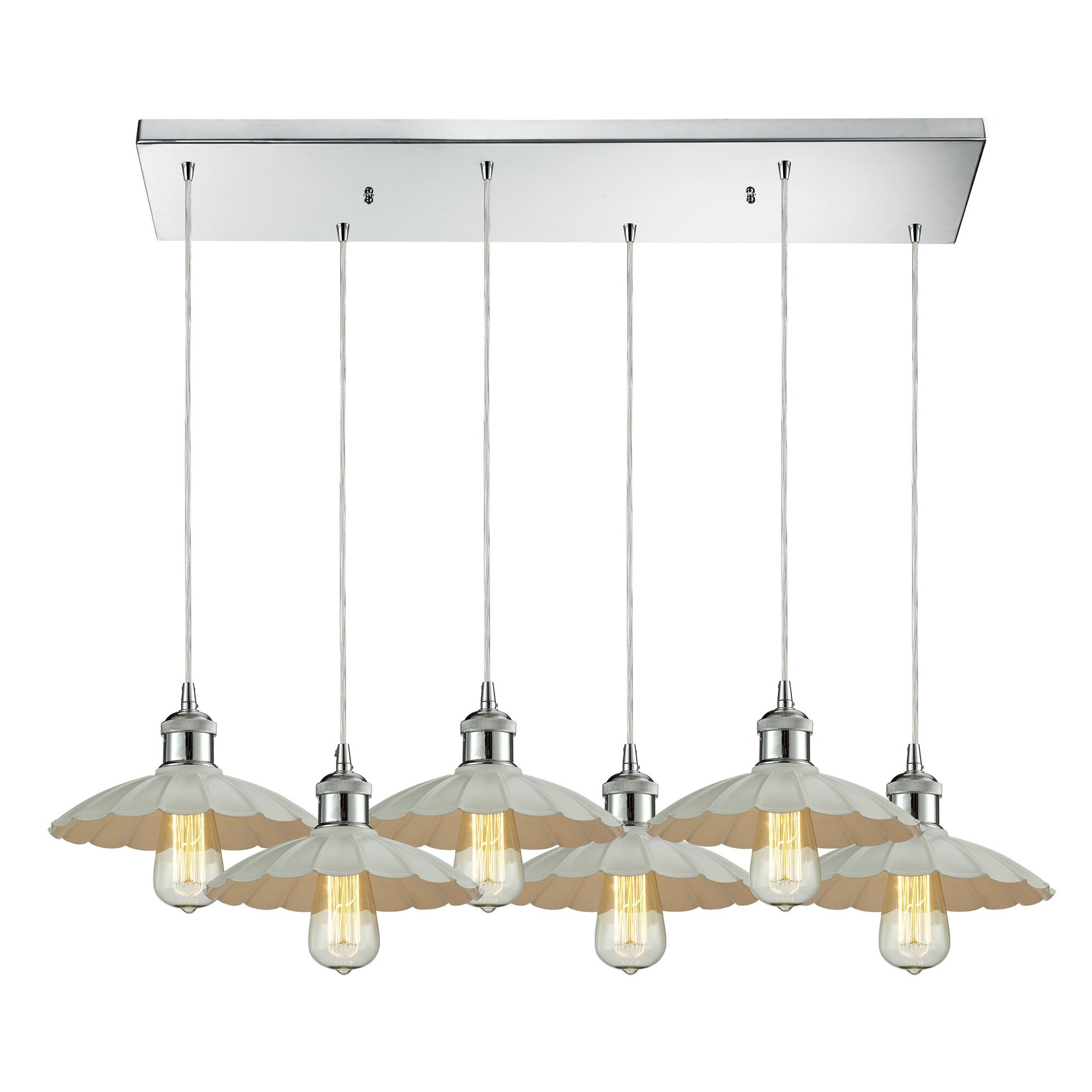 Corrine 6 light kitchen island pendant wayfair for Kitchen island lighting pendants