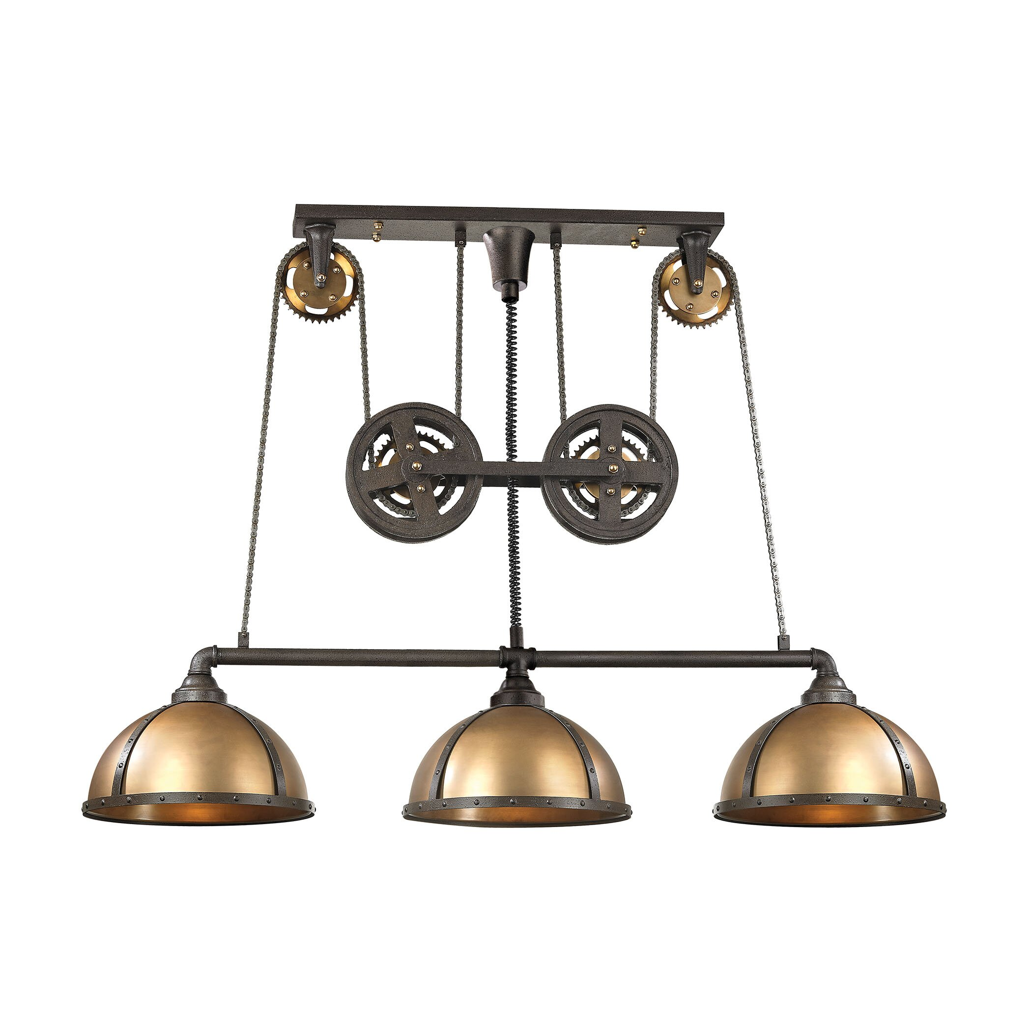 torque 3 light kitchen island pendant wayfair
