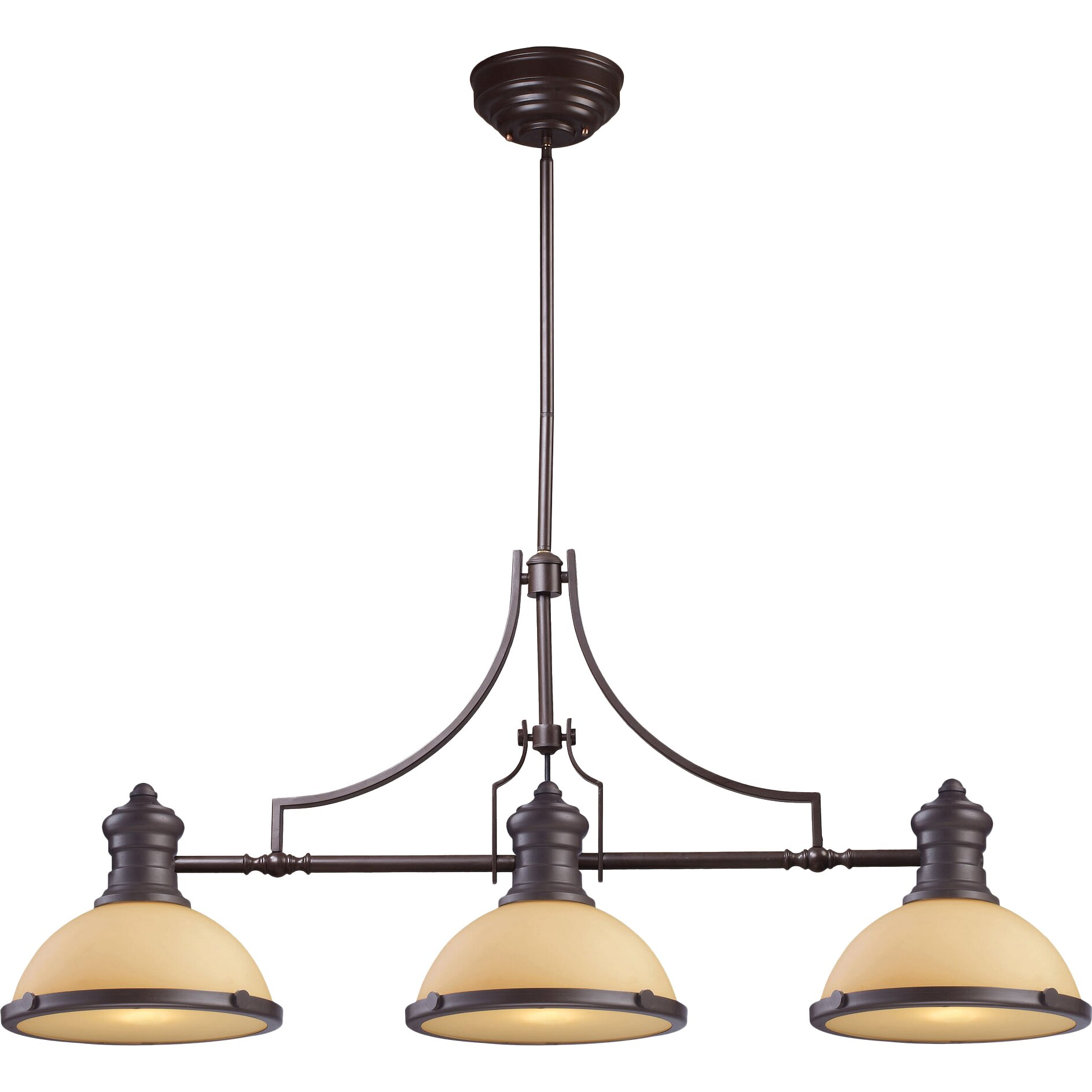 Wayfair Lights: Chadwick 3 Light Pool Table Light