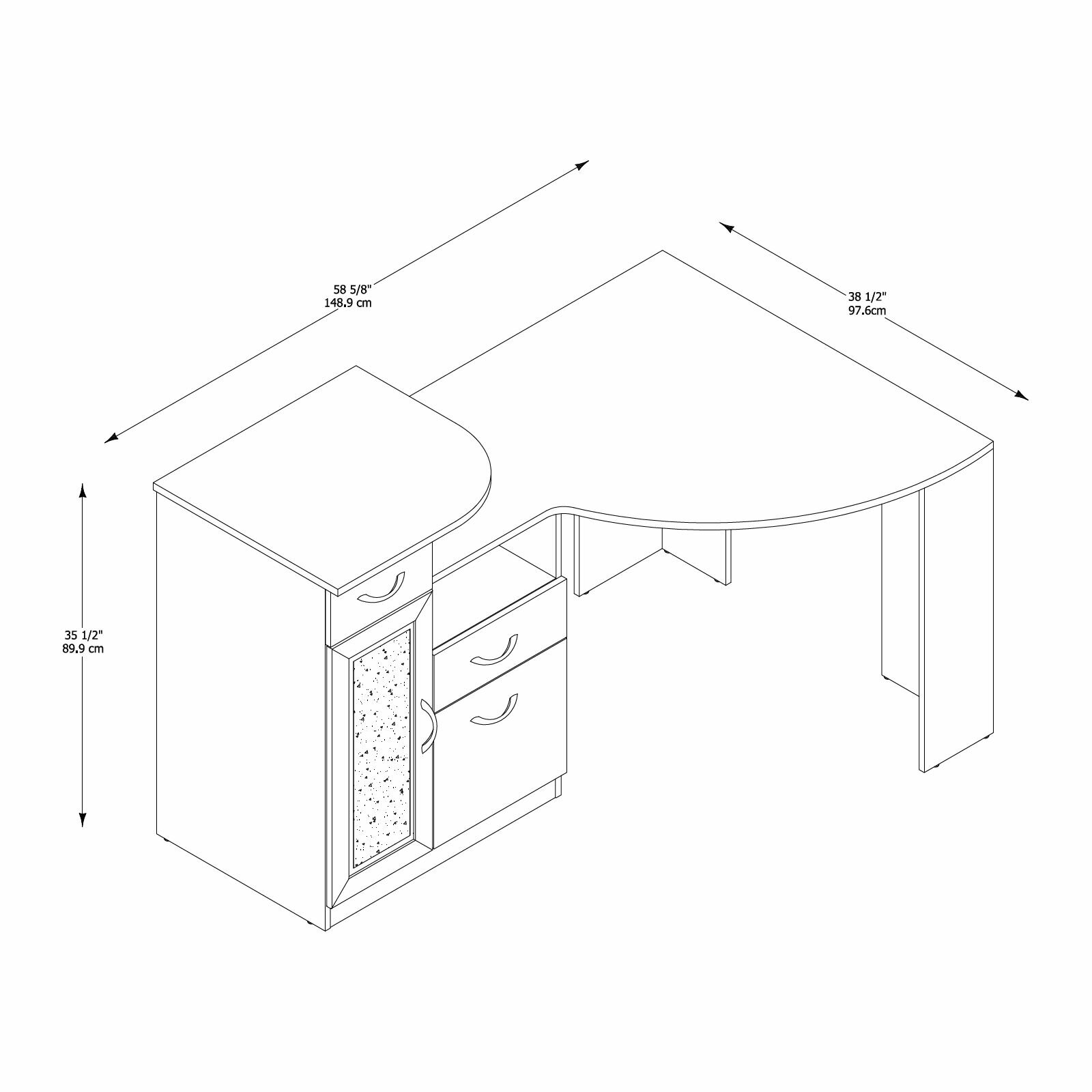 Furniture Office Furniture  All Desks Bush Industries SKU: BU2086