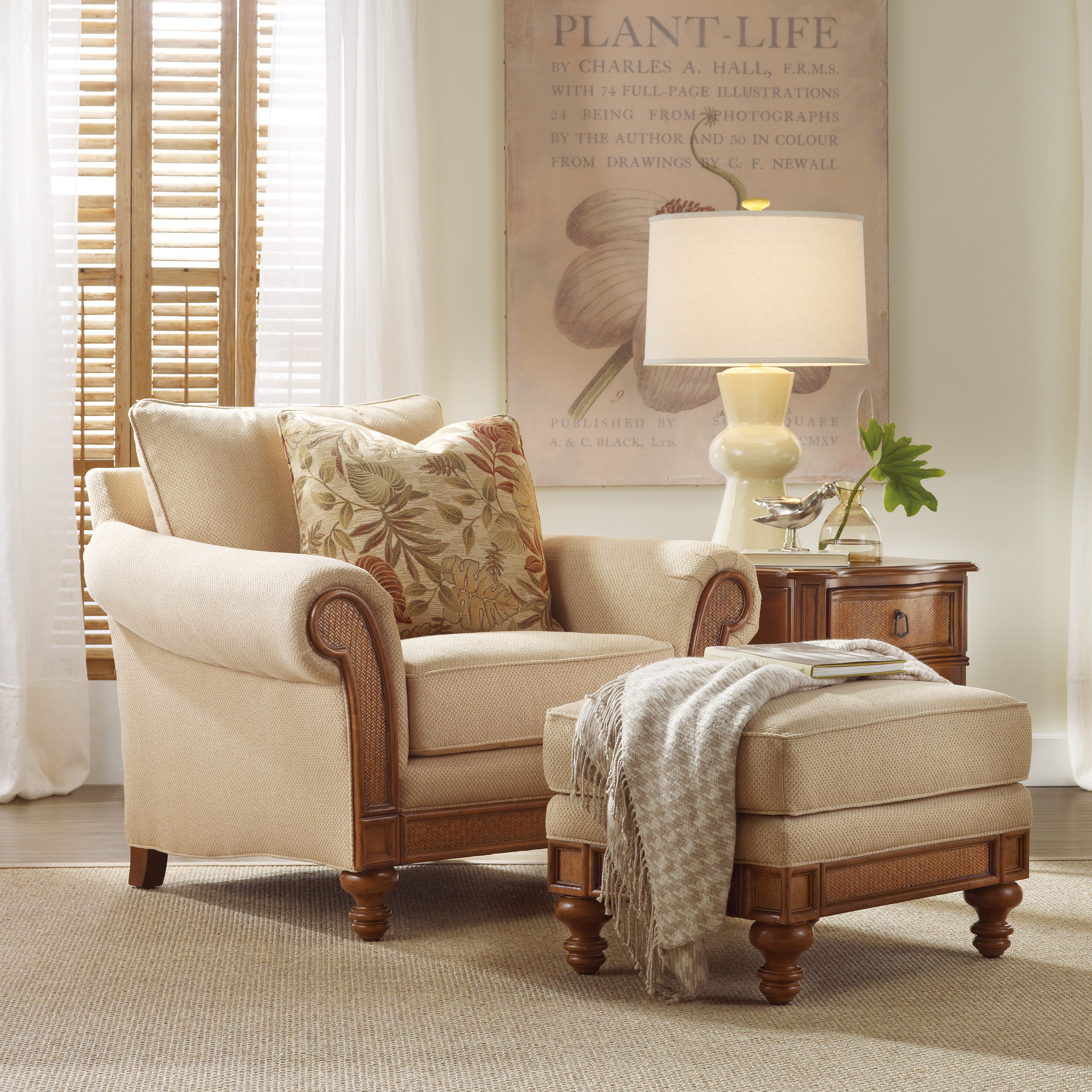 Hooker Furniture Windward Chair and Ottoman & Reviews