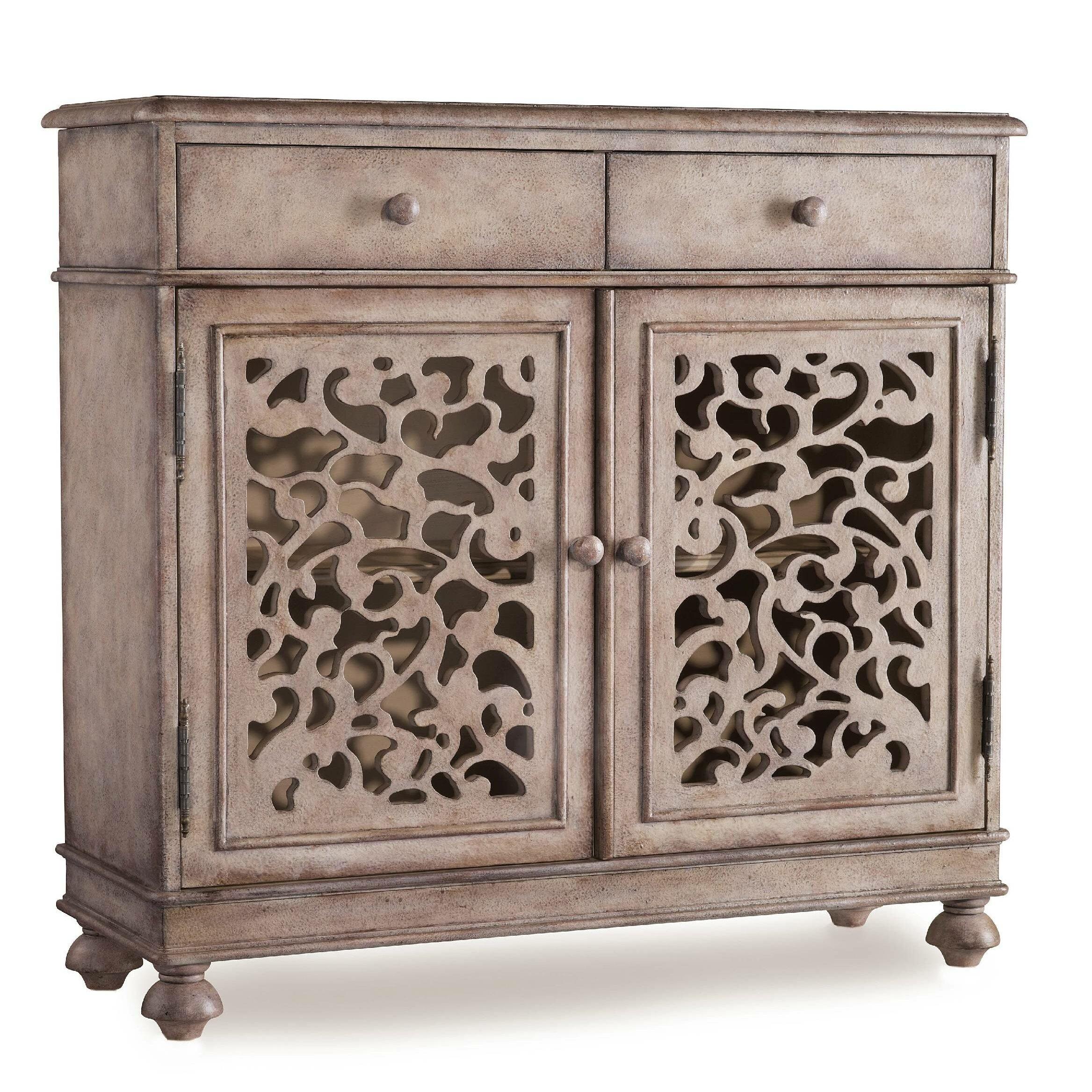 Hooker furniture melange filigree drawer hall chest