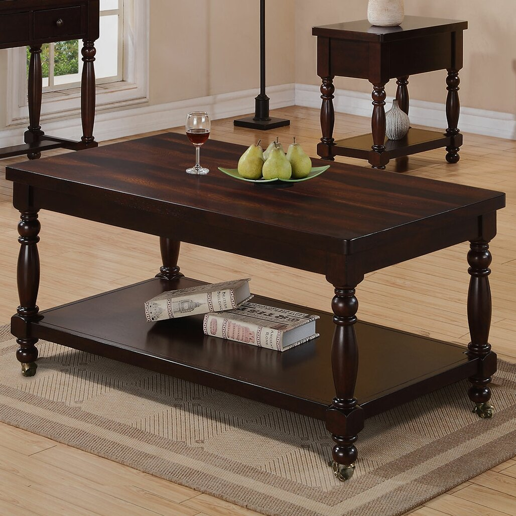 Only Inc Hamilton Park Coffee Table With Casters Reviews Wayfair