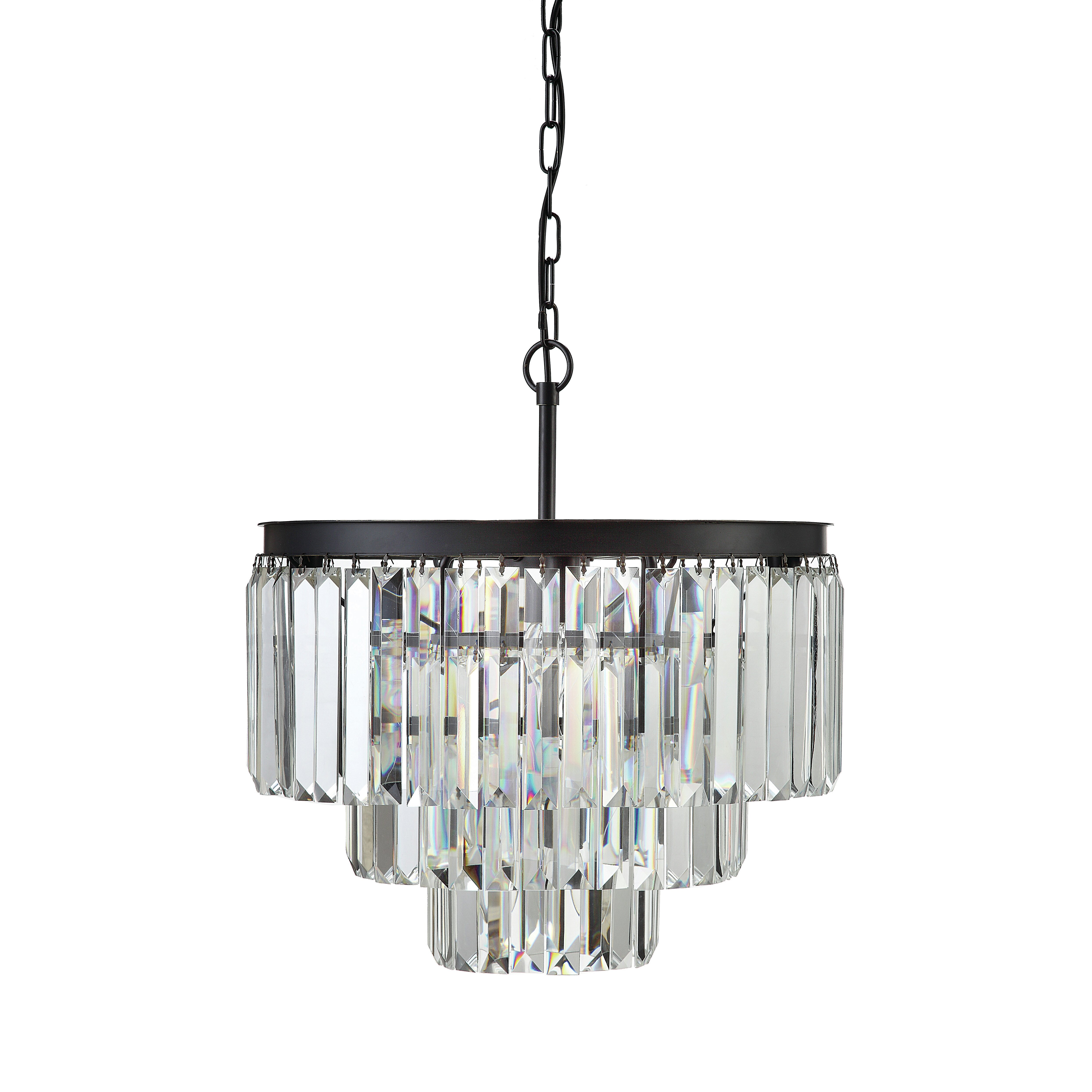 Creative Co Op Uptown Iron Frame with Crystals 9 Light